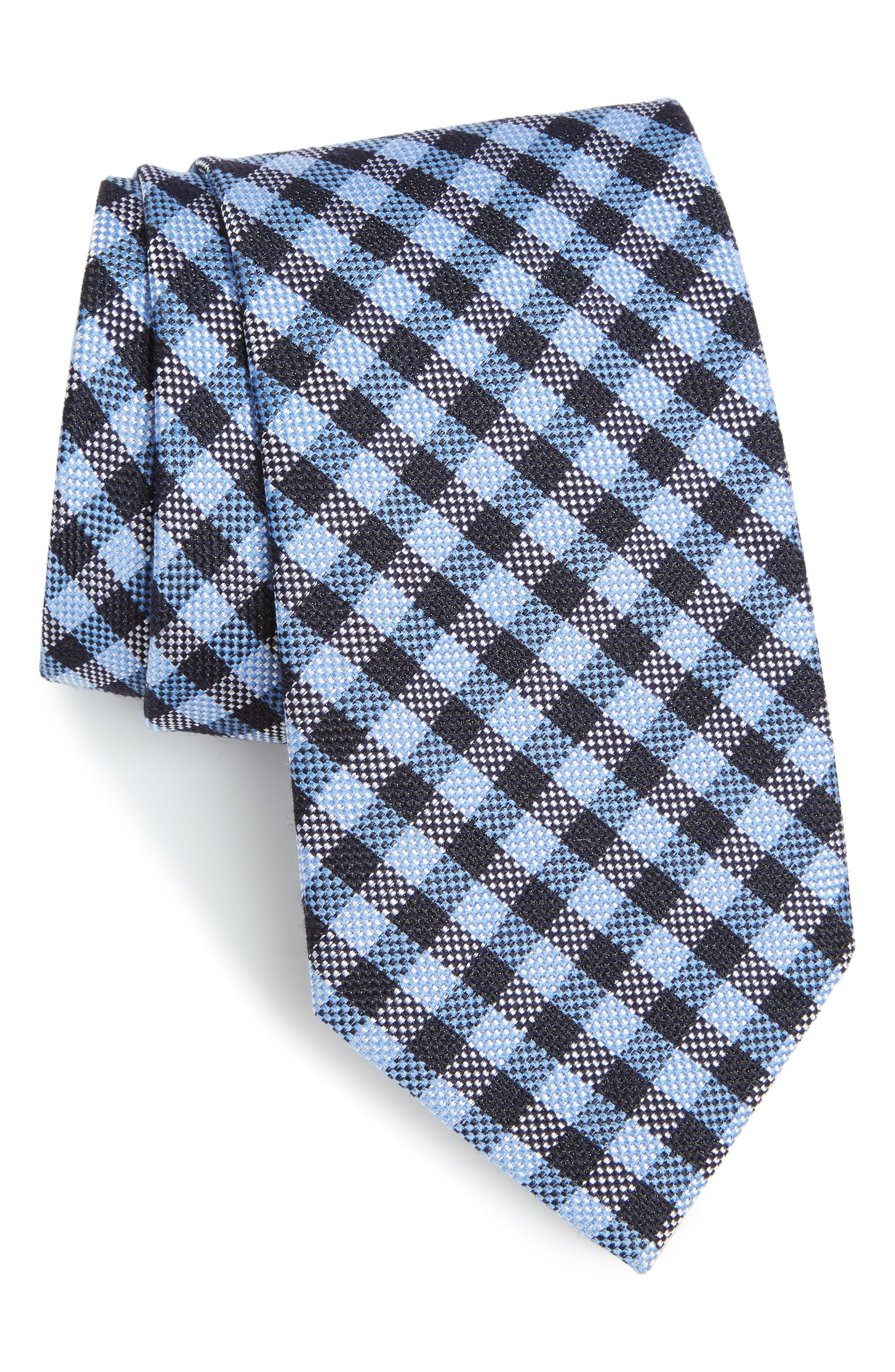 Main Image - Nordstrom Men's Shop Check Silk & Wool Tie