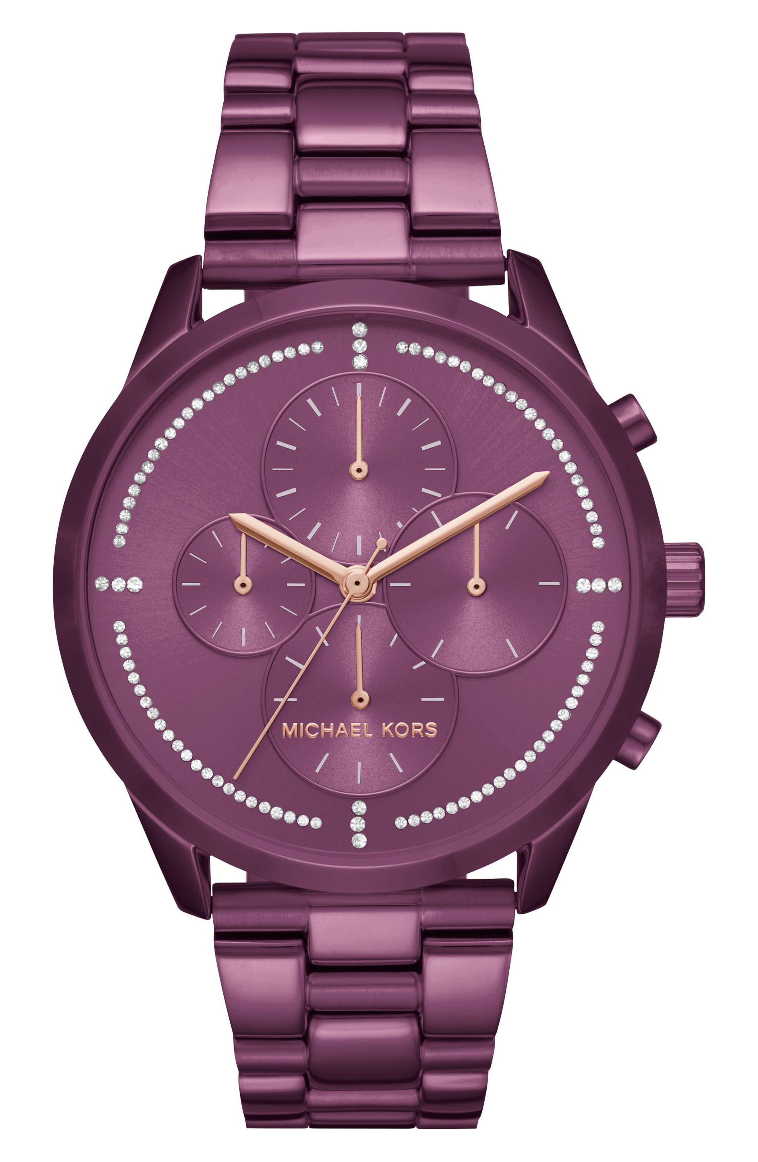 Slater Chronograph Bracelet Watch, 40mm,                         Main,                         color, Purple
