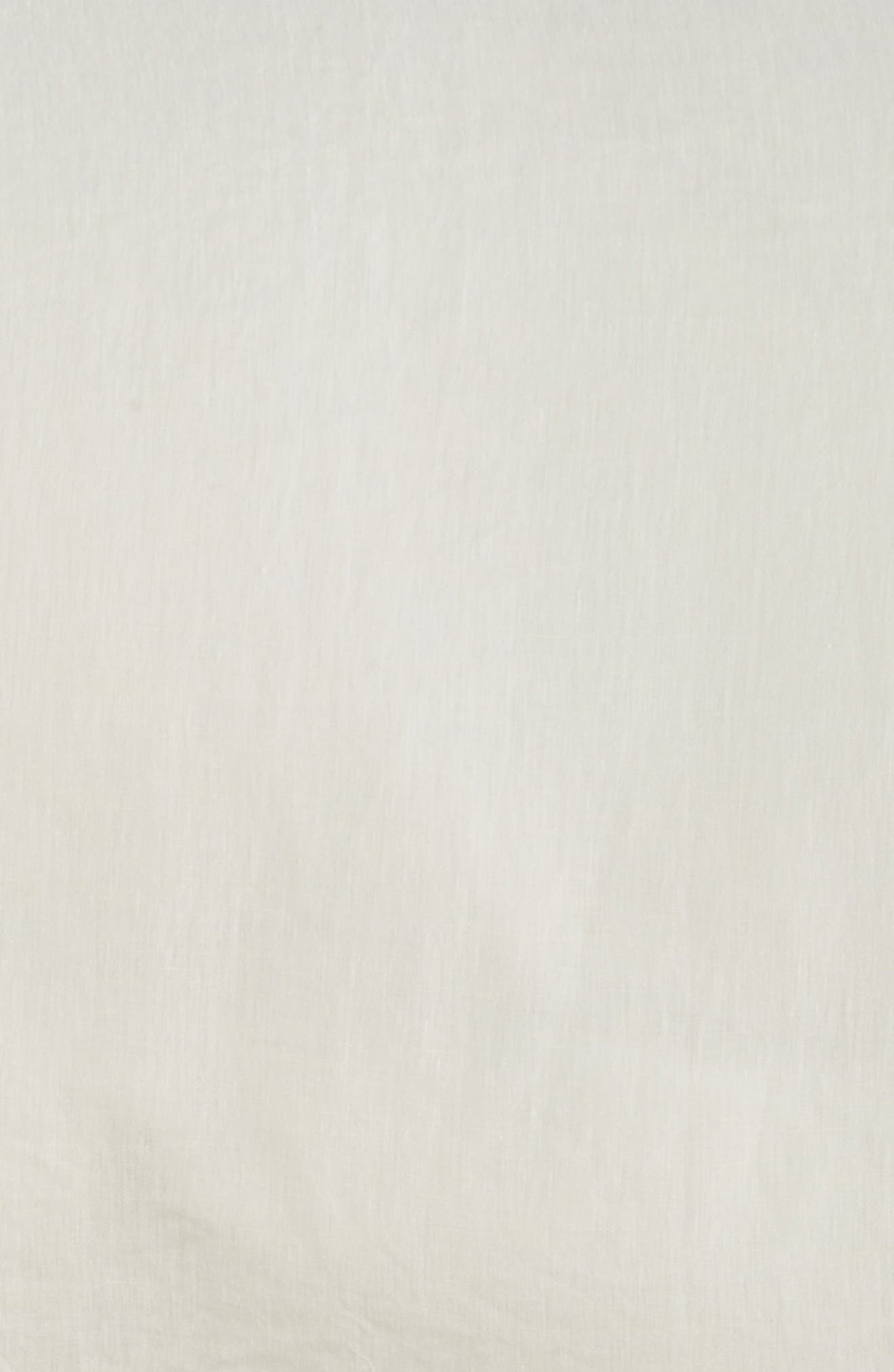 Solo 580 Thread Count Linen Duvet Cover,                             Alternate thumbnail 3, color,                             Anvil