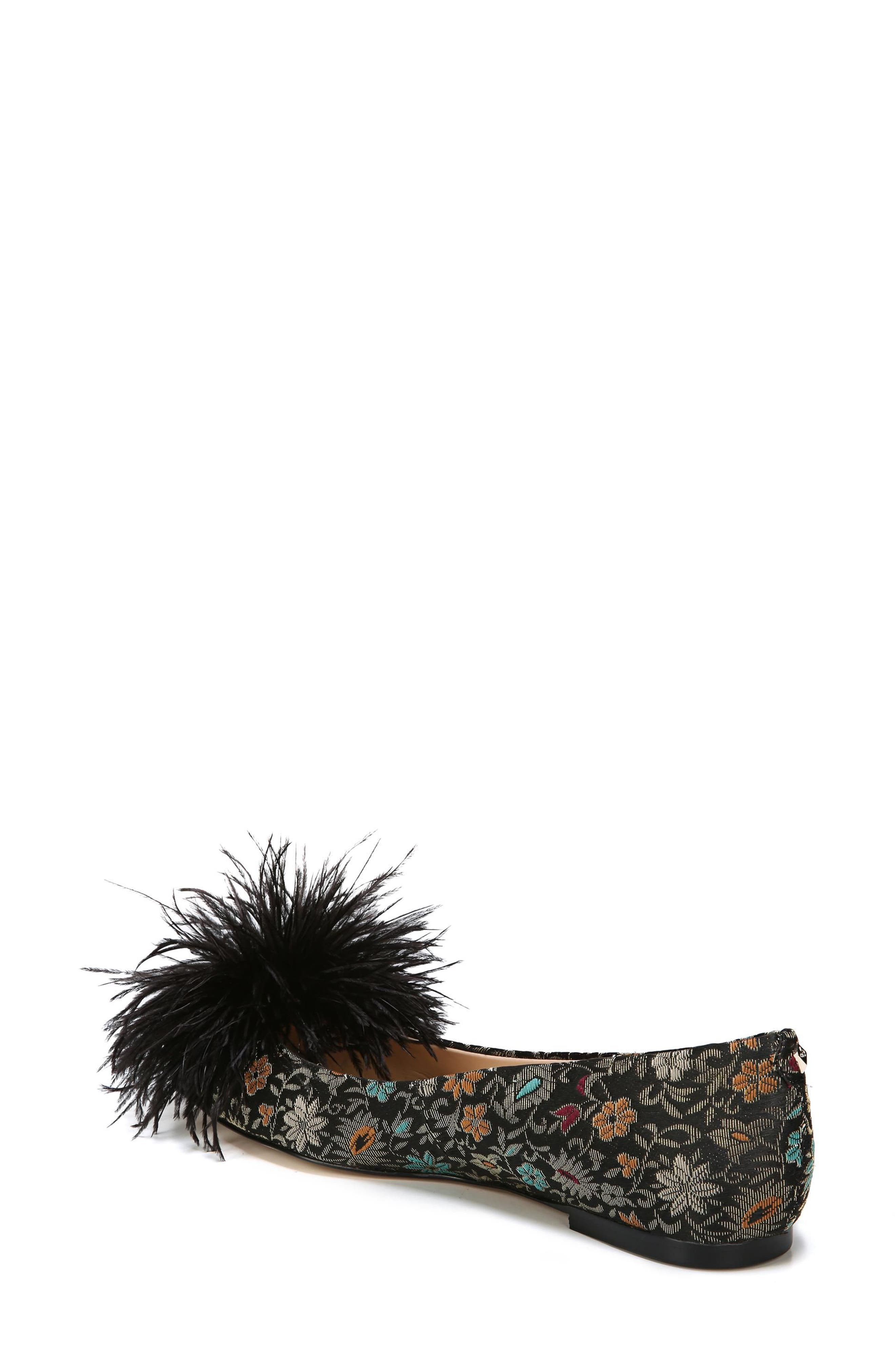 Alternate Image 2  - Sam Edelman Reina Feather Pompom Flat (Women)