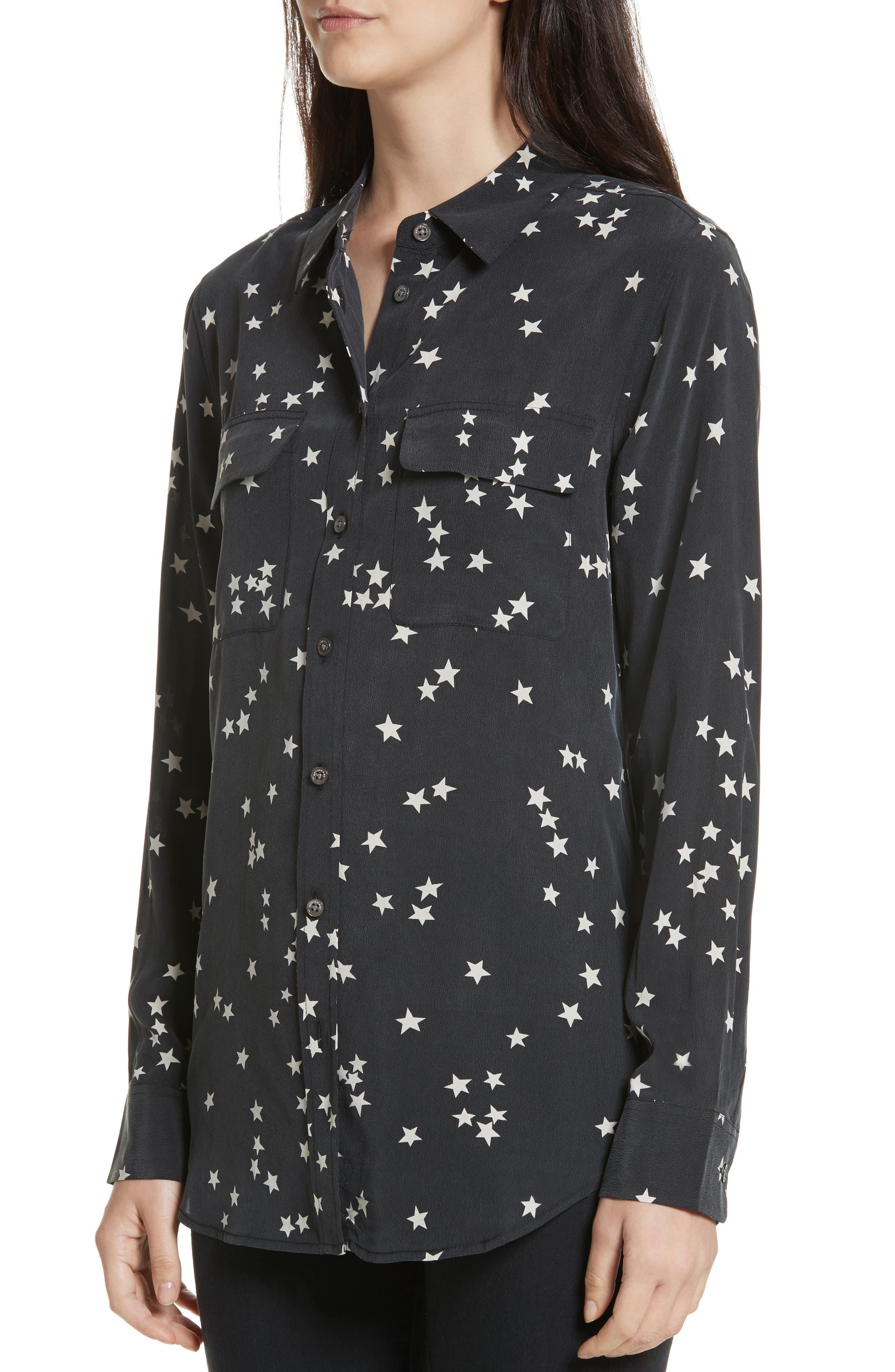 Alternate Image 4  - Equipment 'Starry Night' Silk Shirt