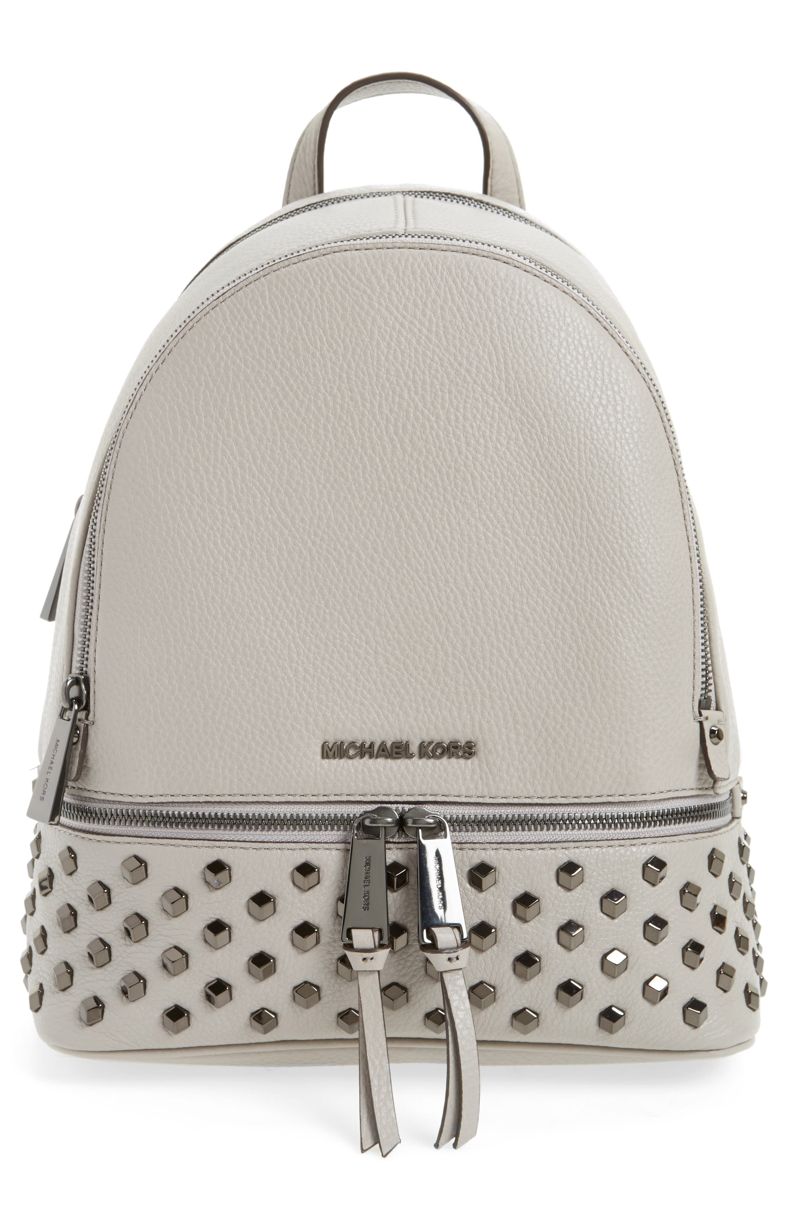 MICHAEL Michael Kors Medium Rhea Zip Studded Leather Backpack