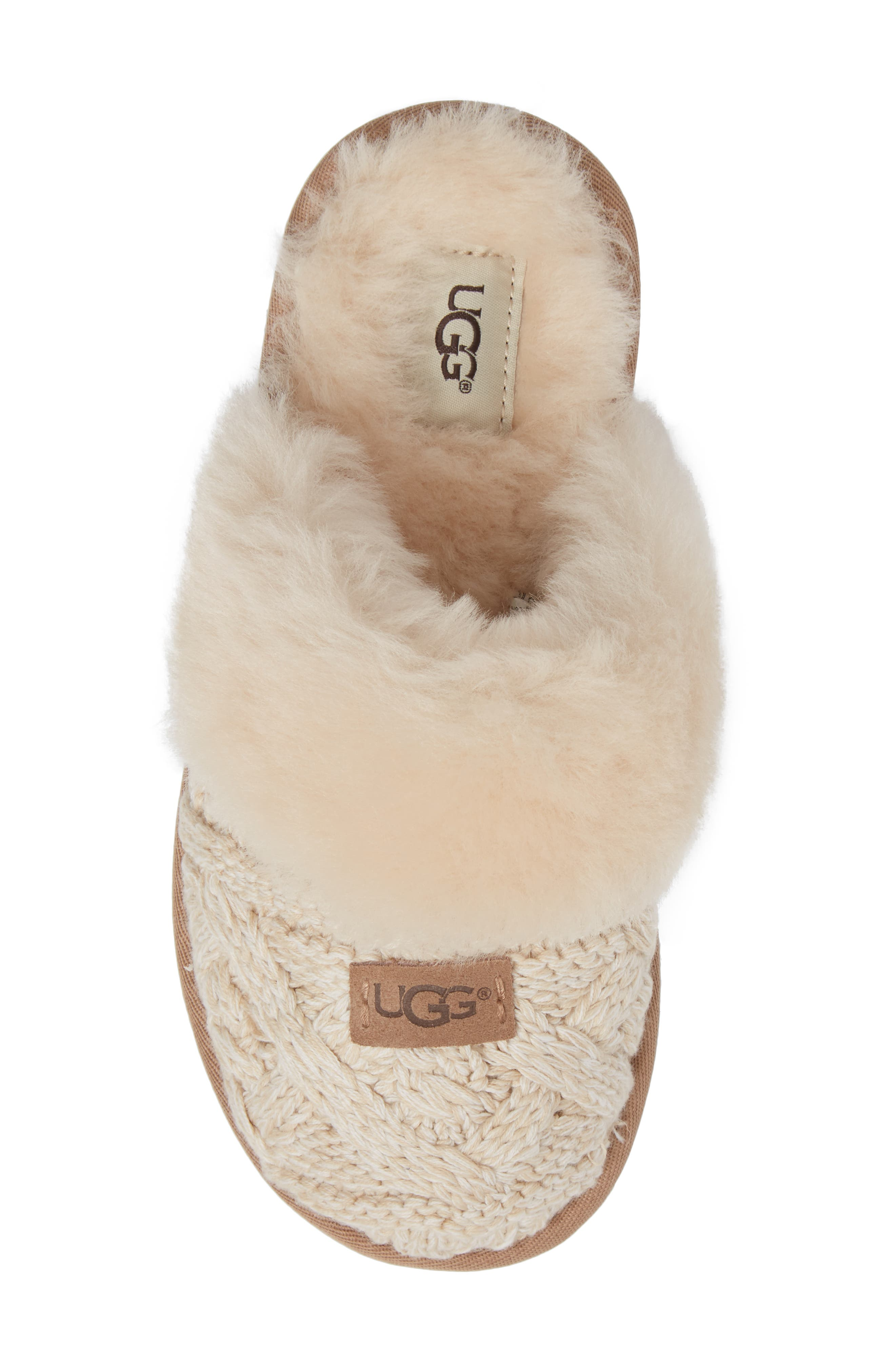 Alternate Image 5  - UGG® Cozy Cable Slipper (Women)