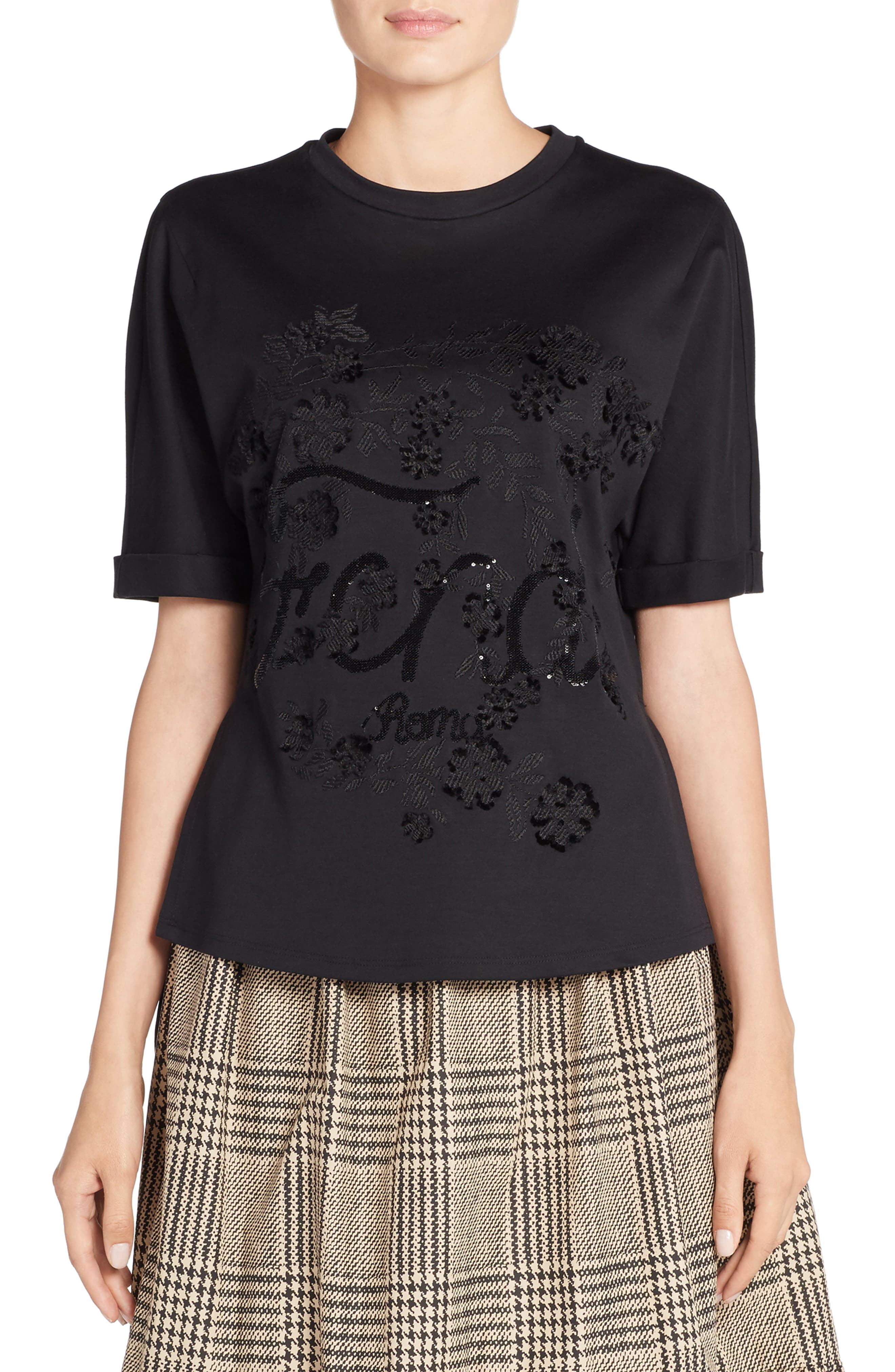 Fendi Embellished Tee