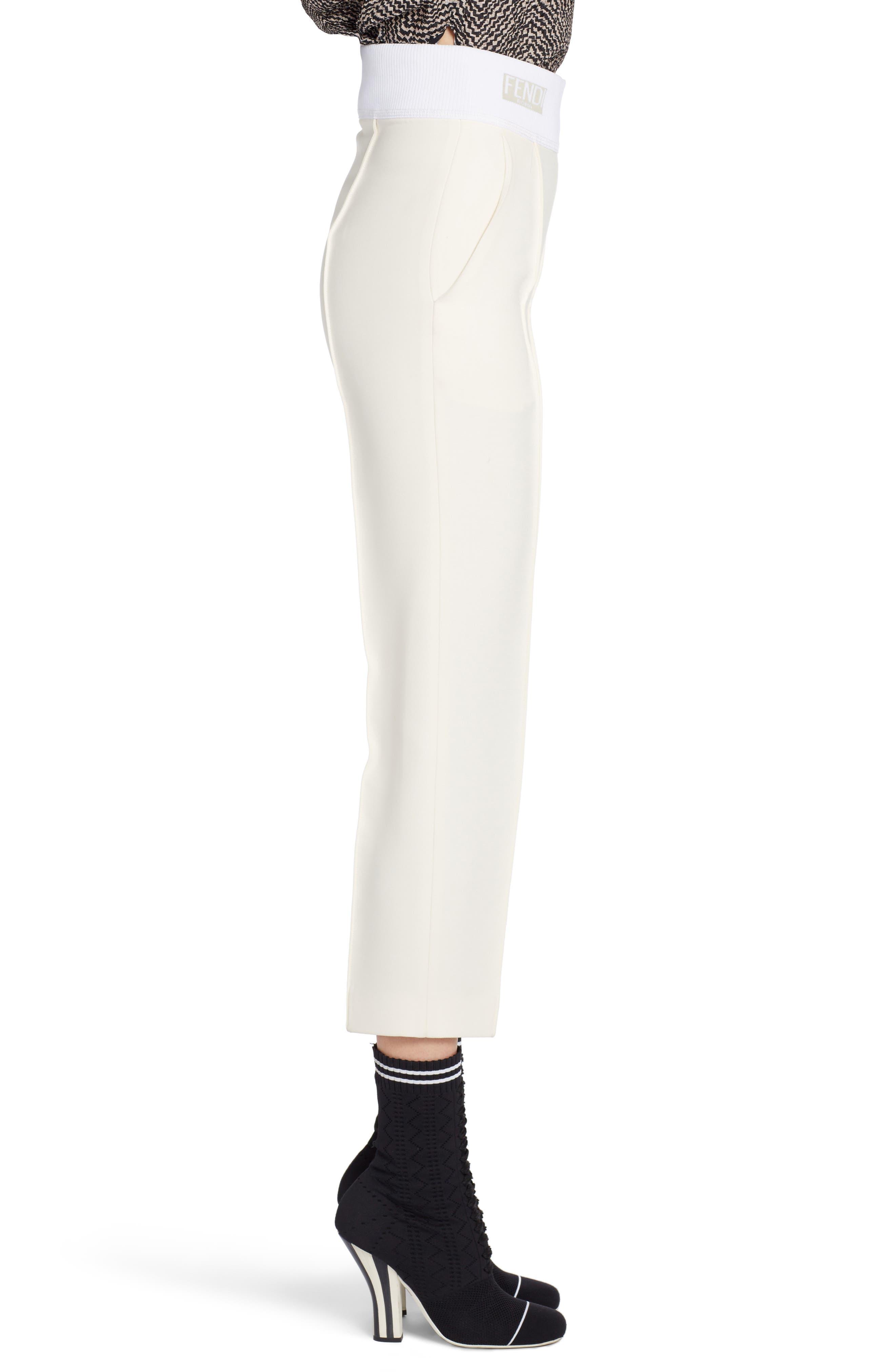 Alternate Image 3  - Fendi Wool & Silk Gazar Crop Pants