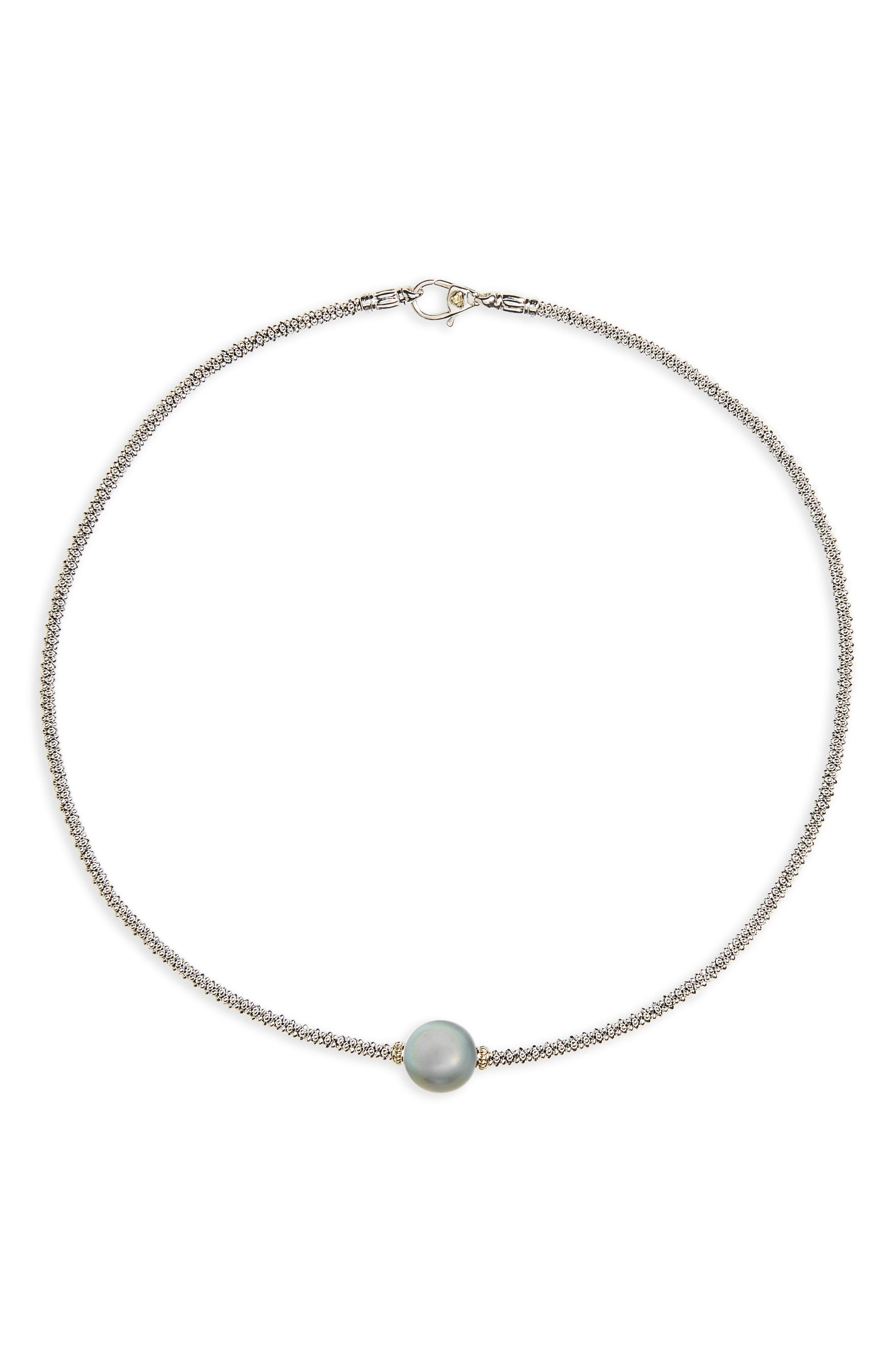 Alternate Image 1 Selected - LAGOS Luna Pearl Collar Necklace