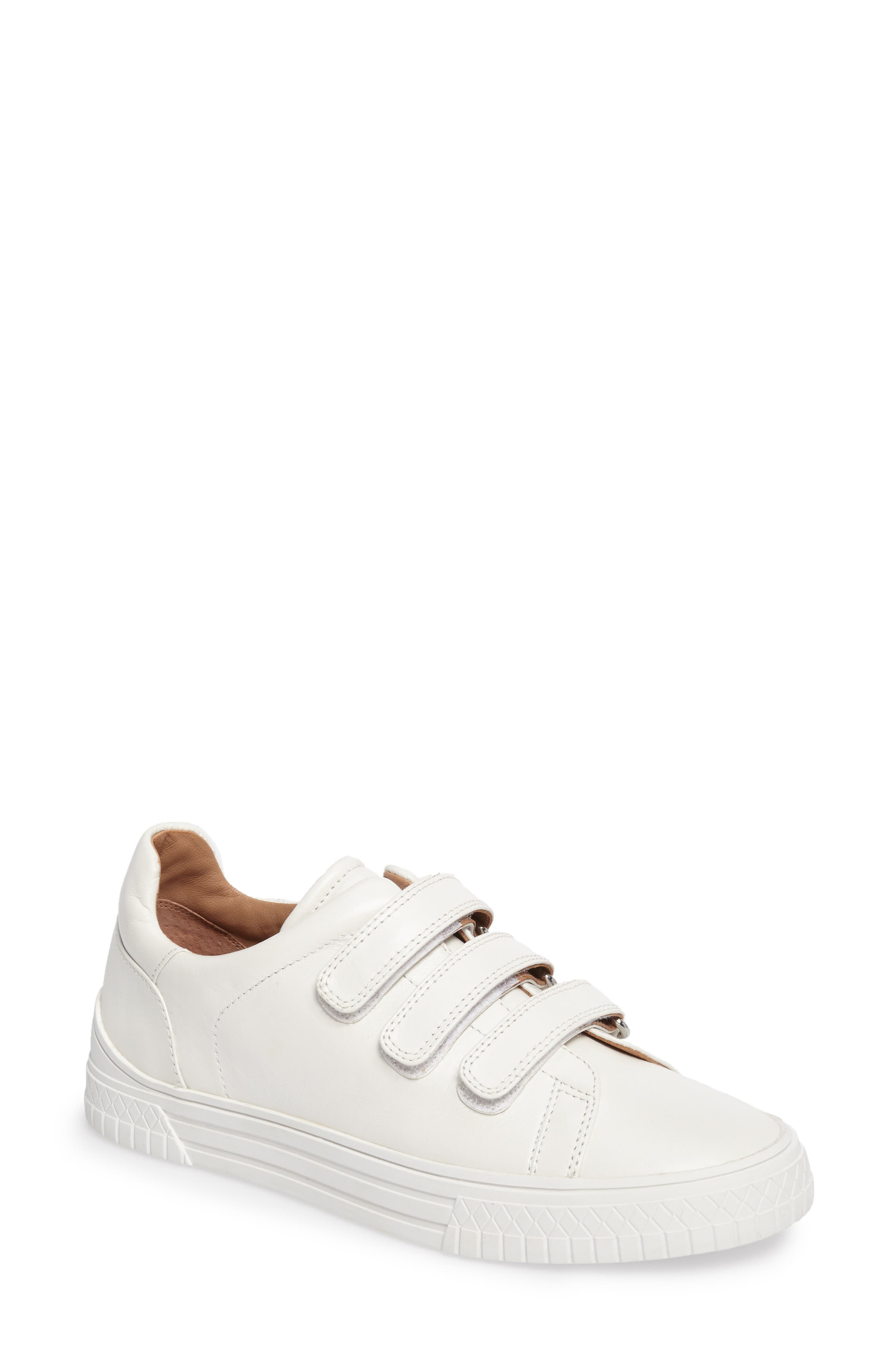 Grace Sneaker,                         Main,                         color, White Leather