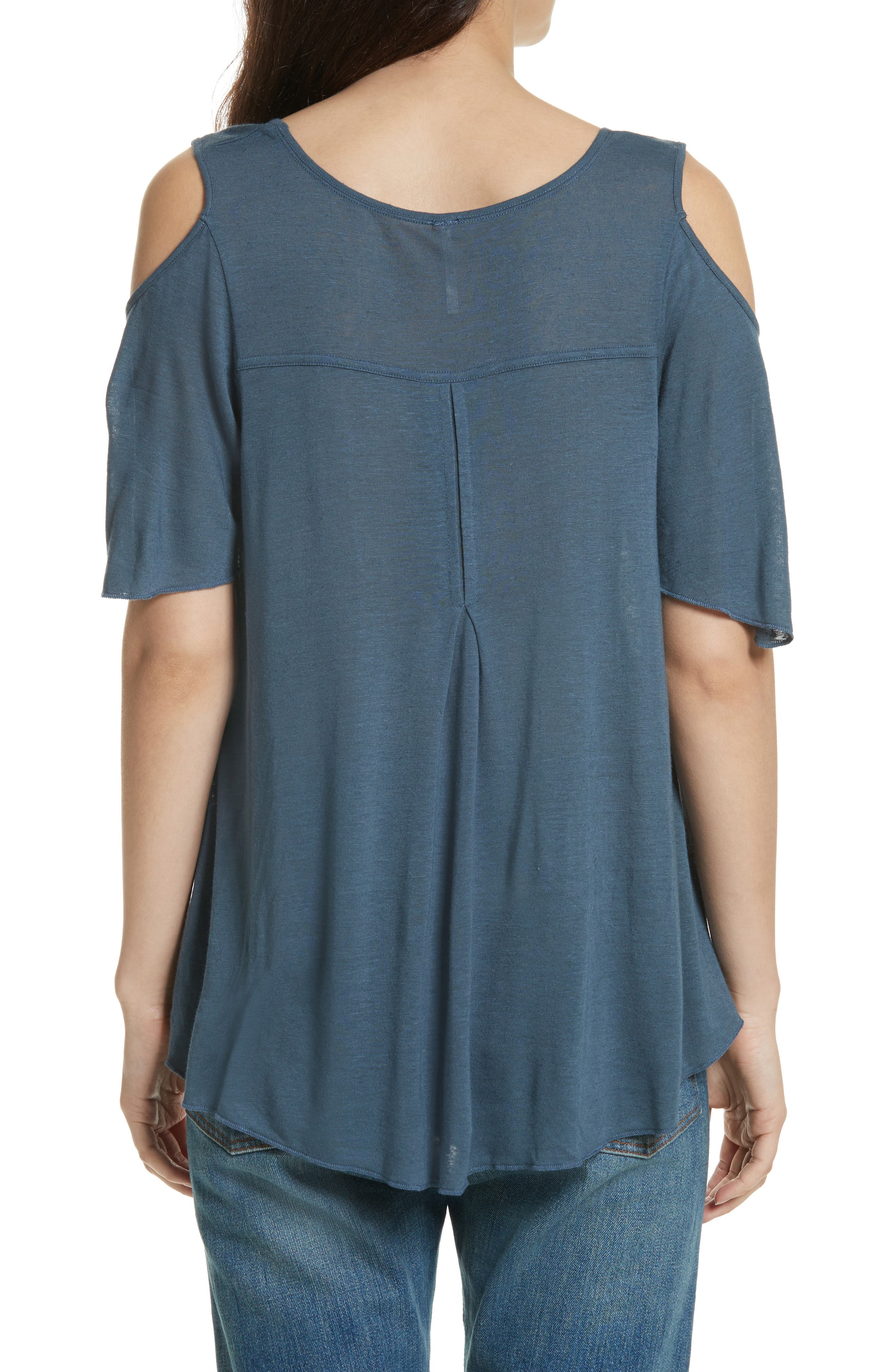 Bittersweet Cold Shoulder Top,                             Alternate thumbnail 2, color,                             Blue