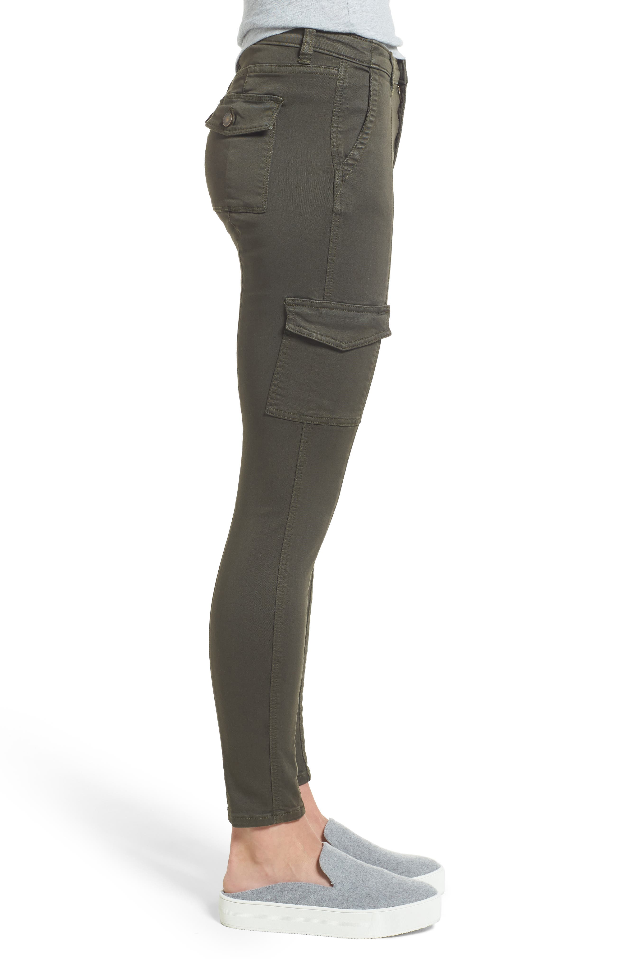 Alternate Image 3  - Caslon® Skinny Cargo Pants (Regular & Petite)