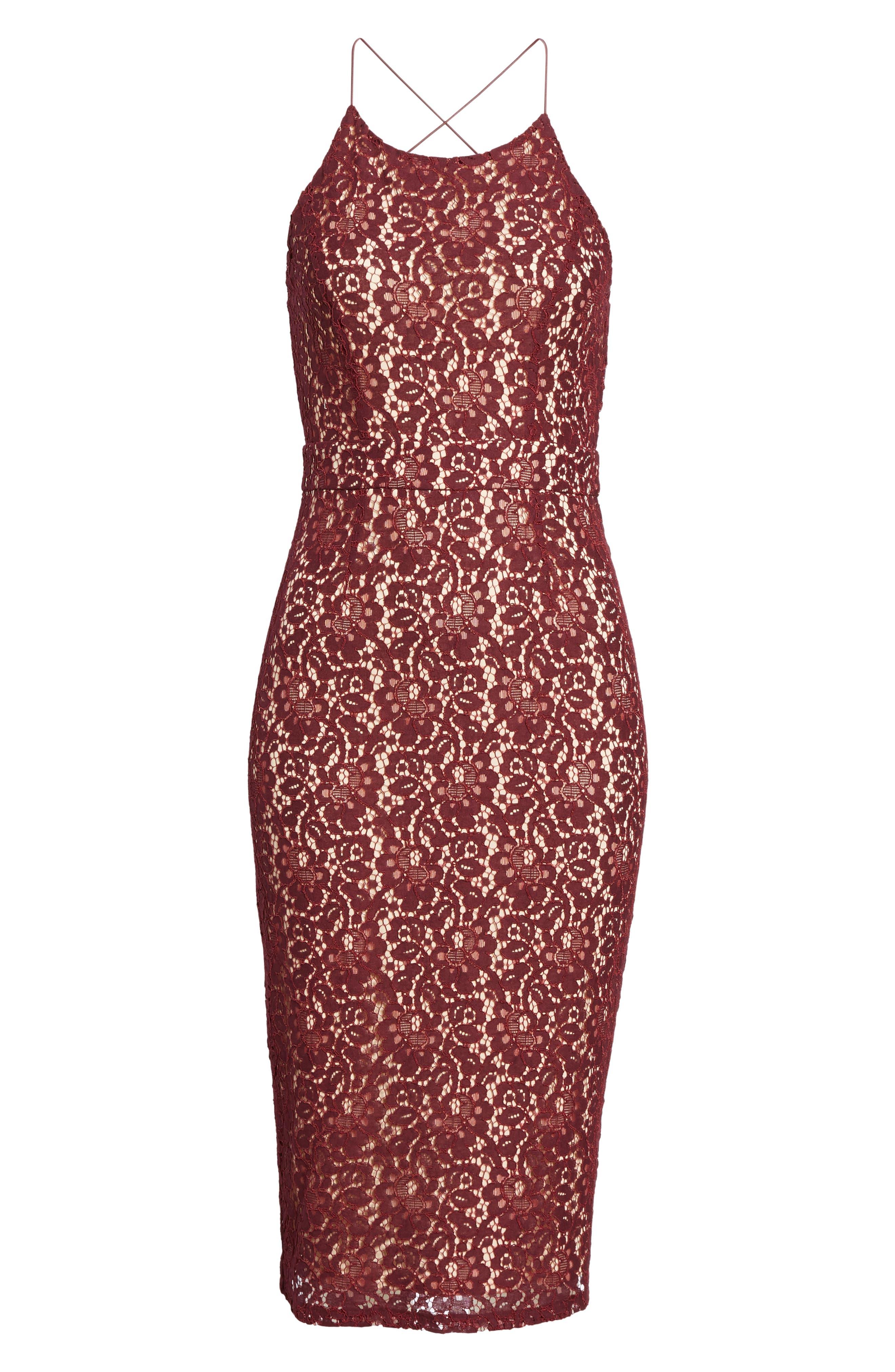 Alternate Image 6  - Soprano Lace Halter Midi Dress
