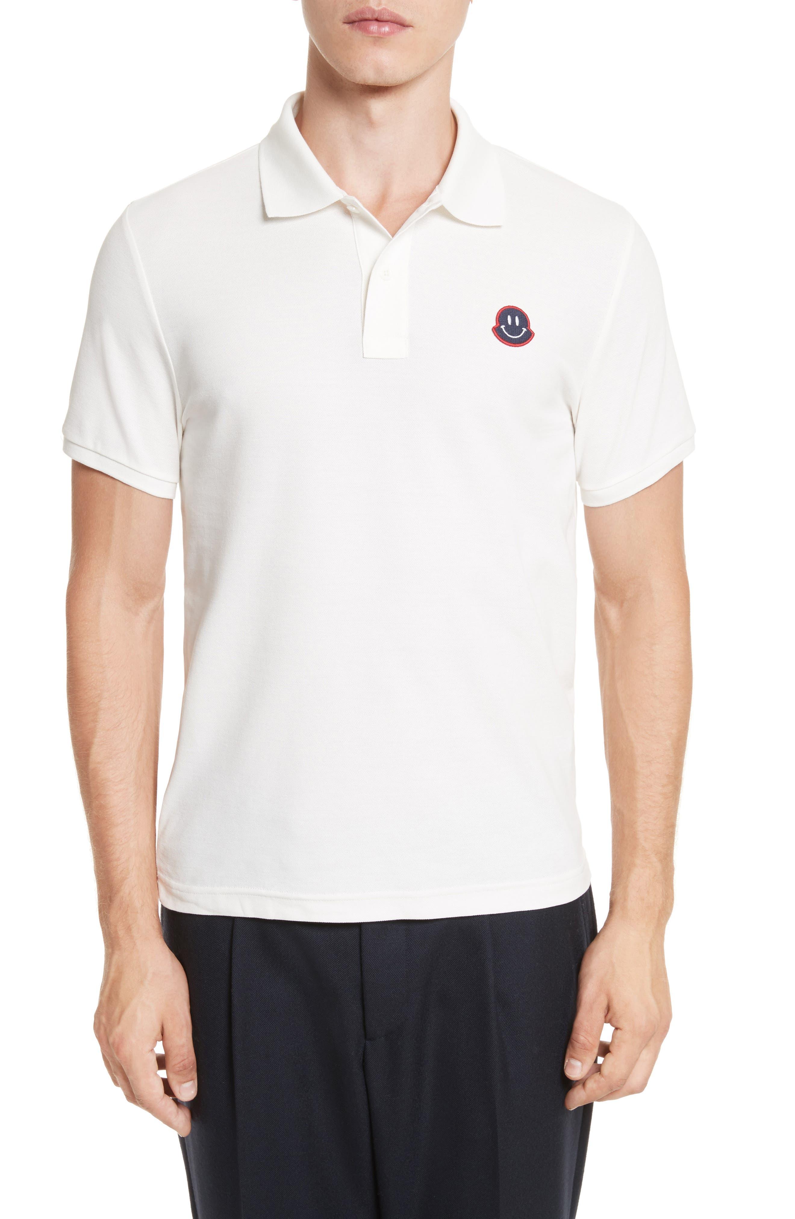 Moncler Smile Logo Piqué Polo