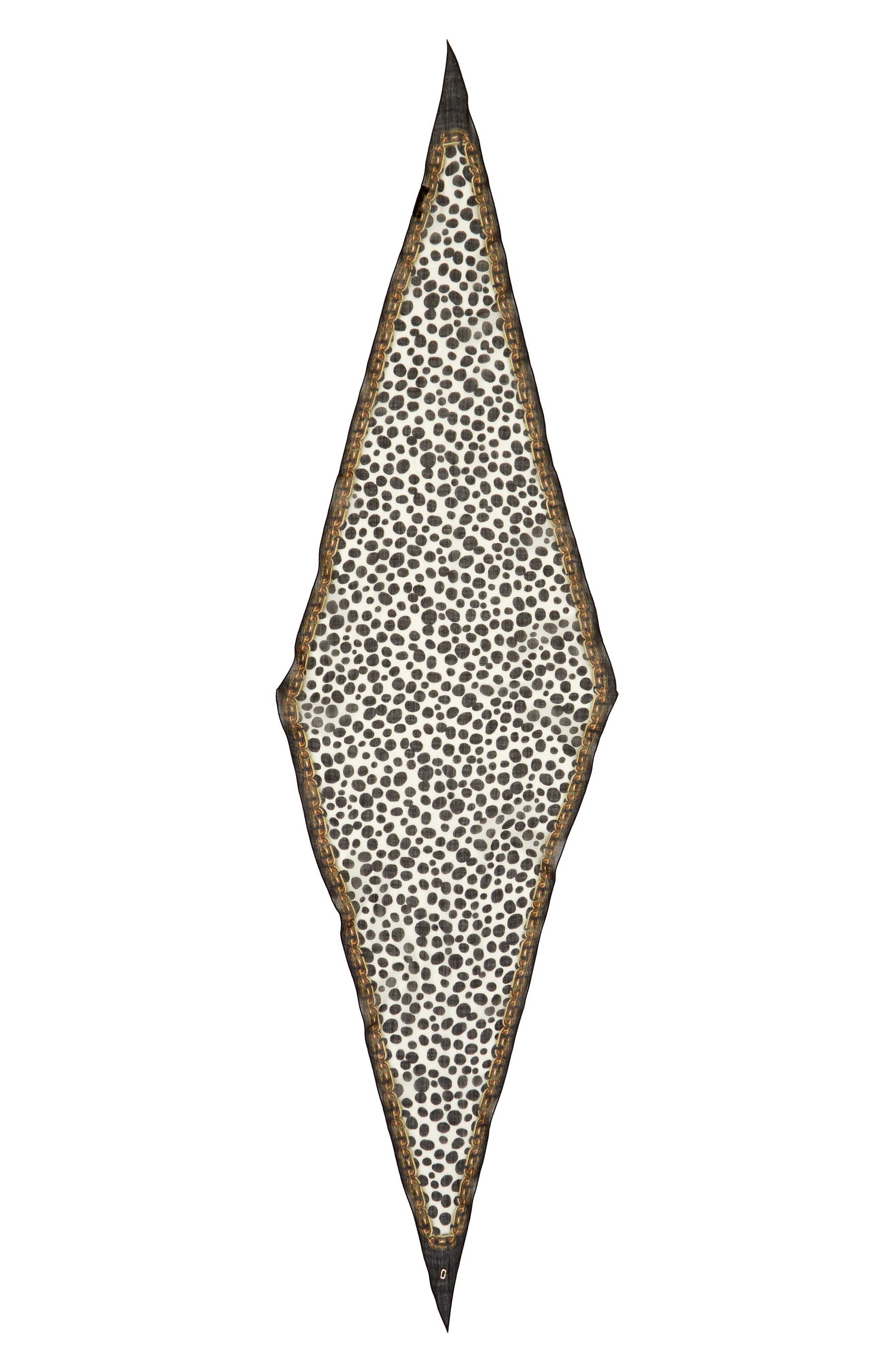 MARC JACOBS Animal & Chains Diamond Shaped Wool Scarf