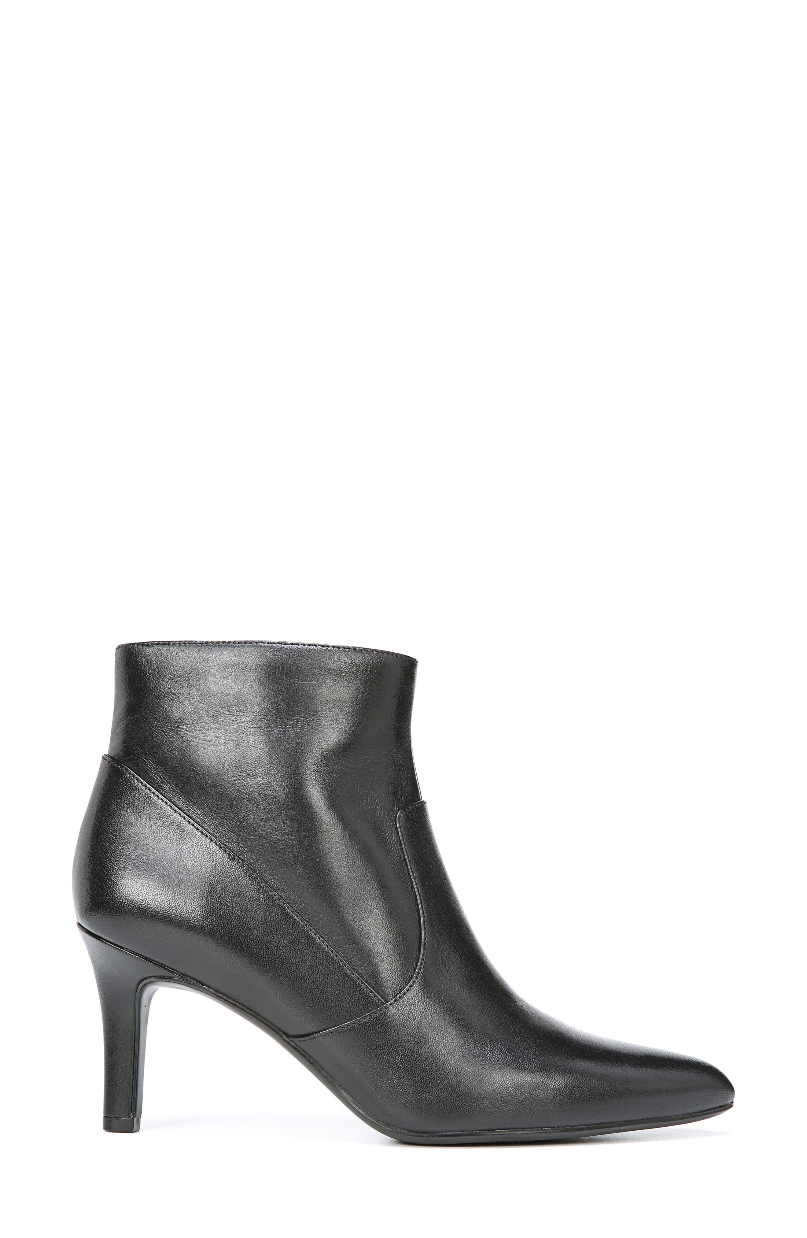 Nadine Bootie,                             Alternate thumbnail 3, color,                             Black Leather
