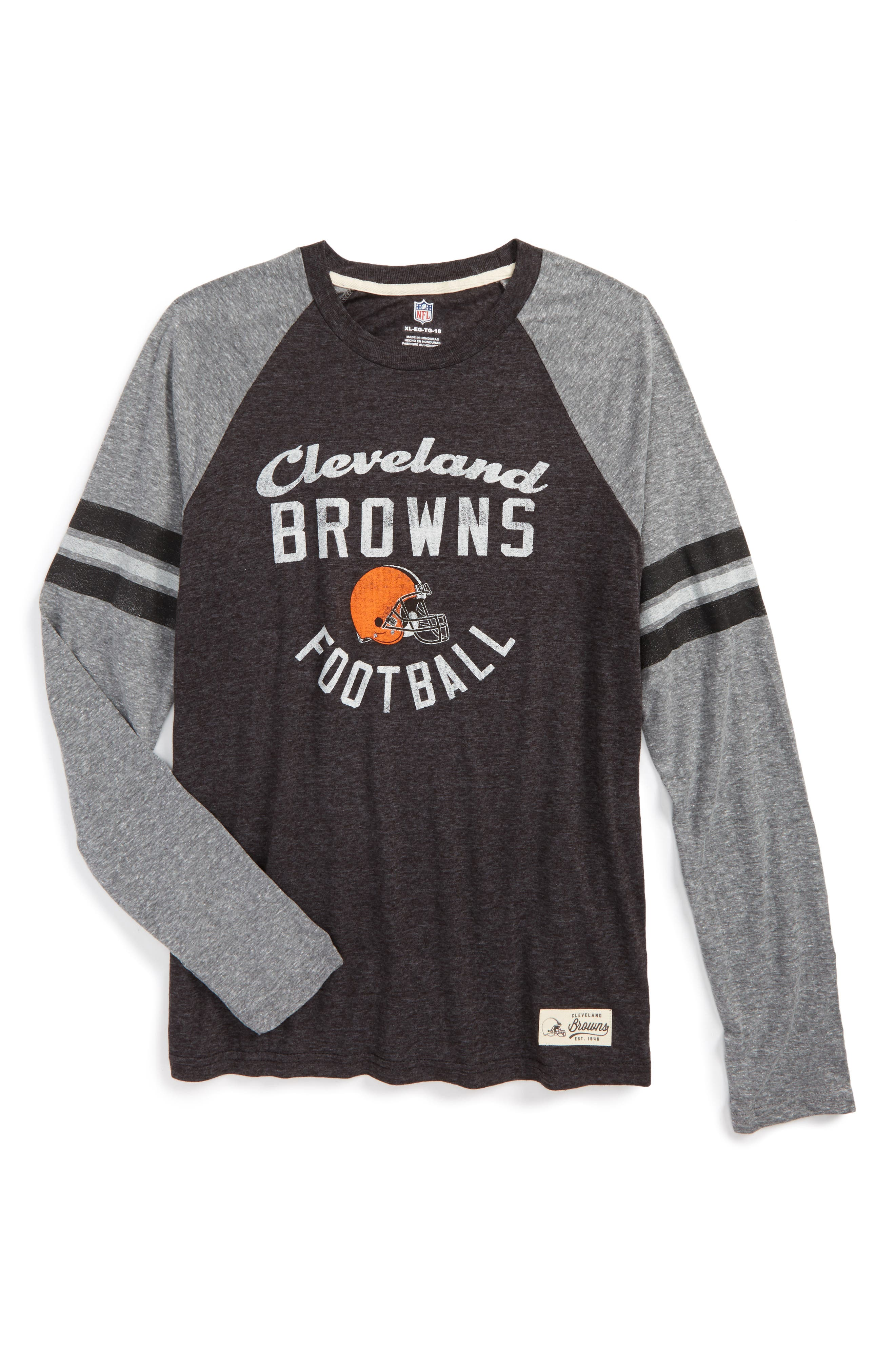 NFL Cleveland Browns Distressed Logo T-Shirt,                         Main,                         color, Brown