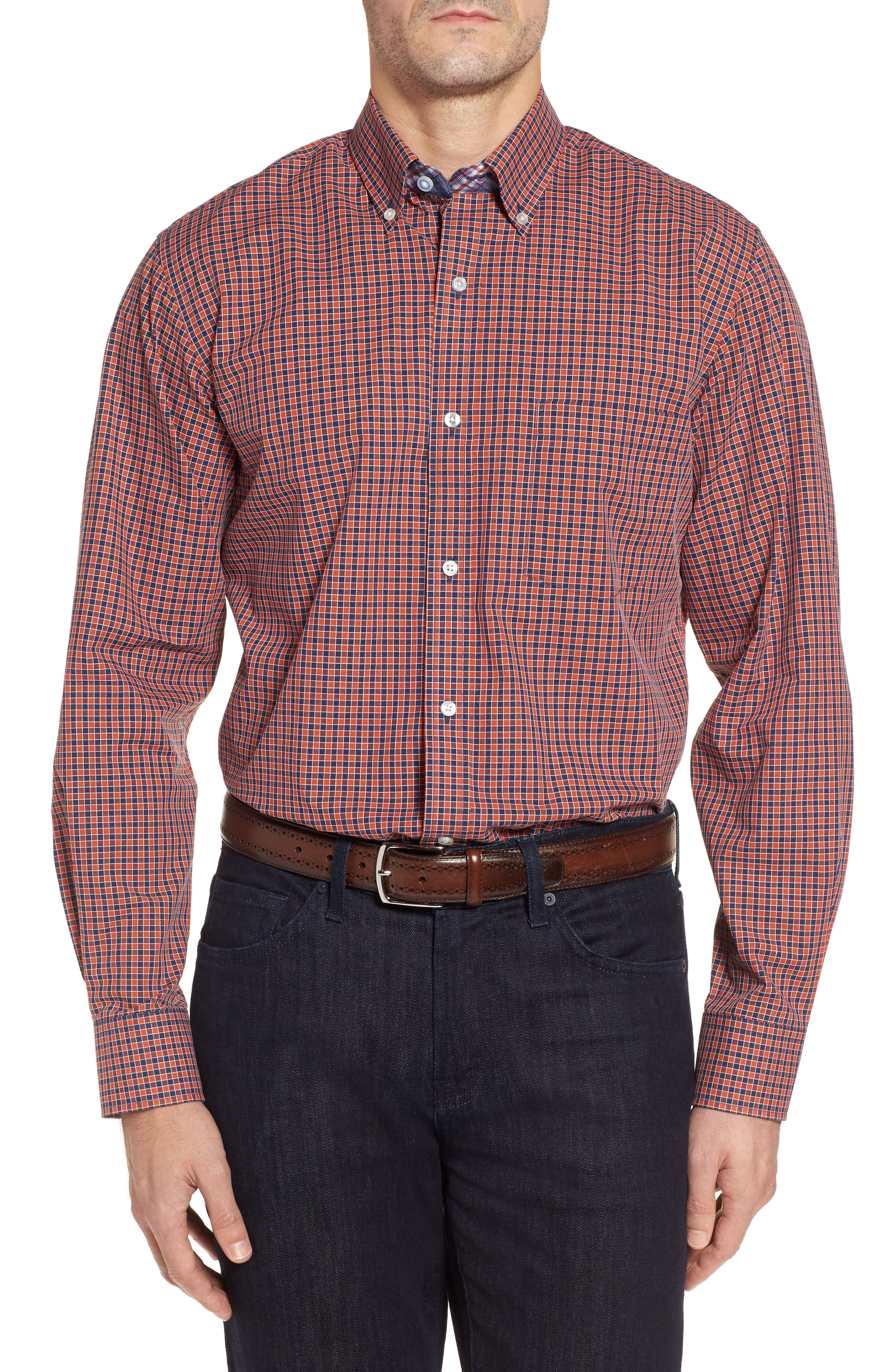 Main Image - TailorByrd Regular Fit Check Sport Shirt