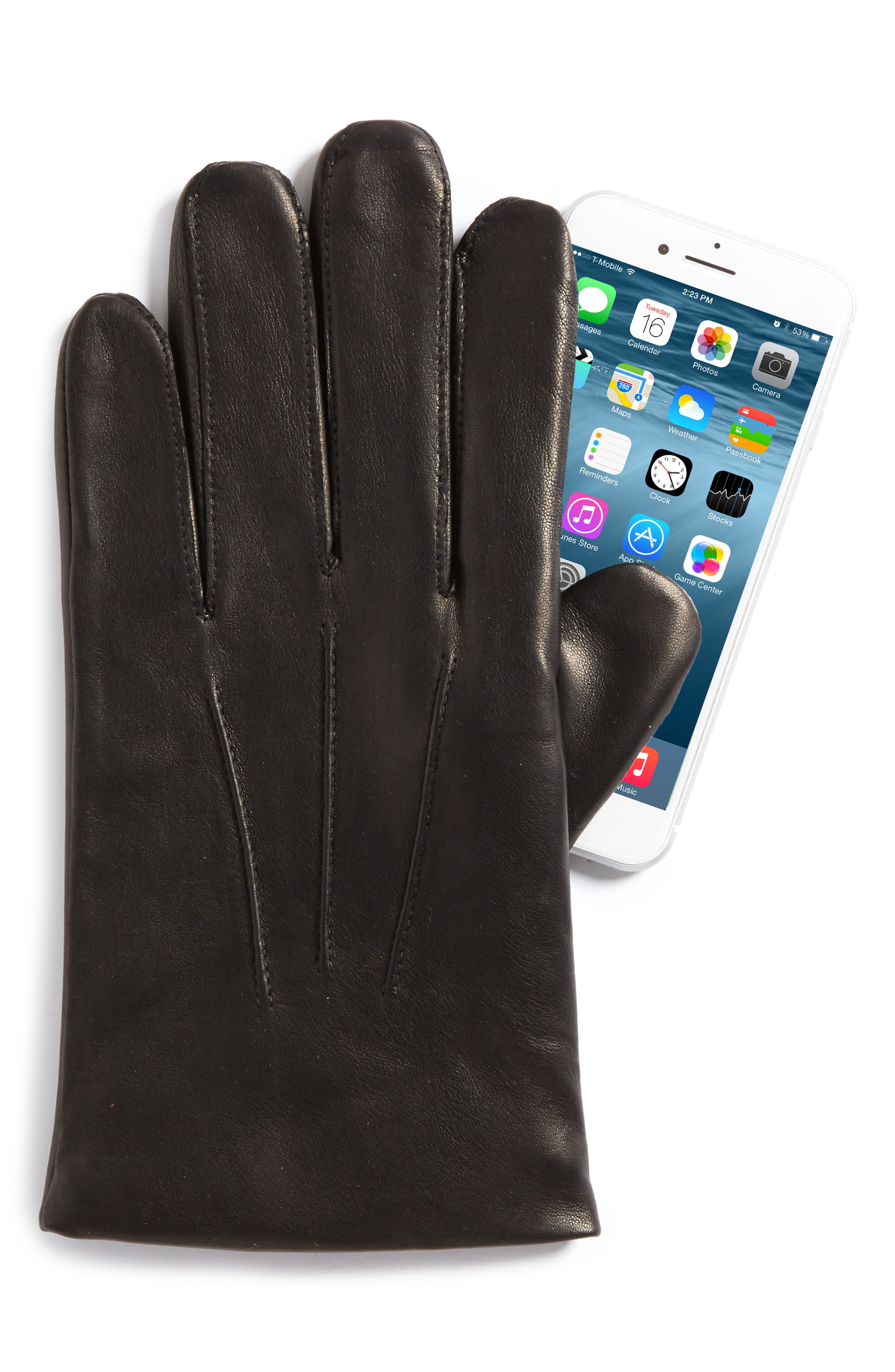 Alternate Image 2  - Nordstrom Men's Shop Leather Gloves