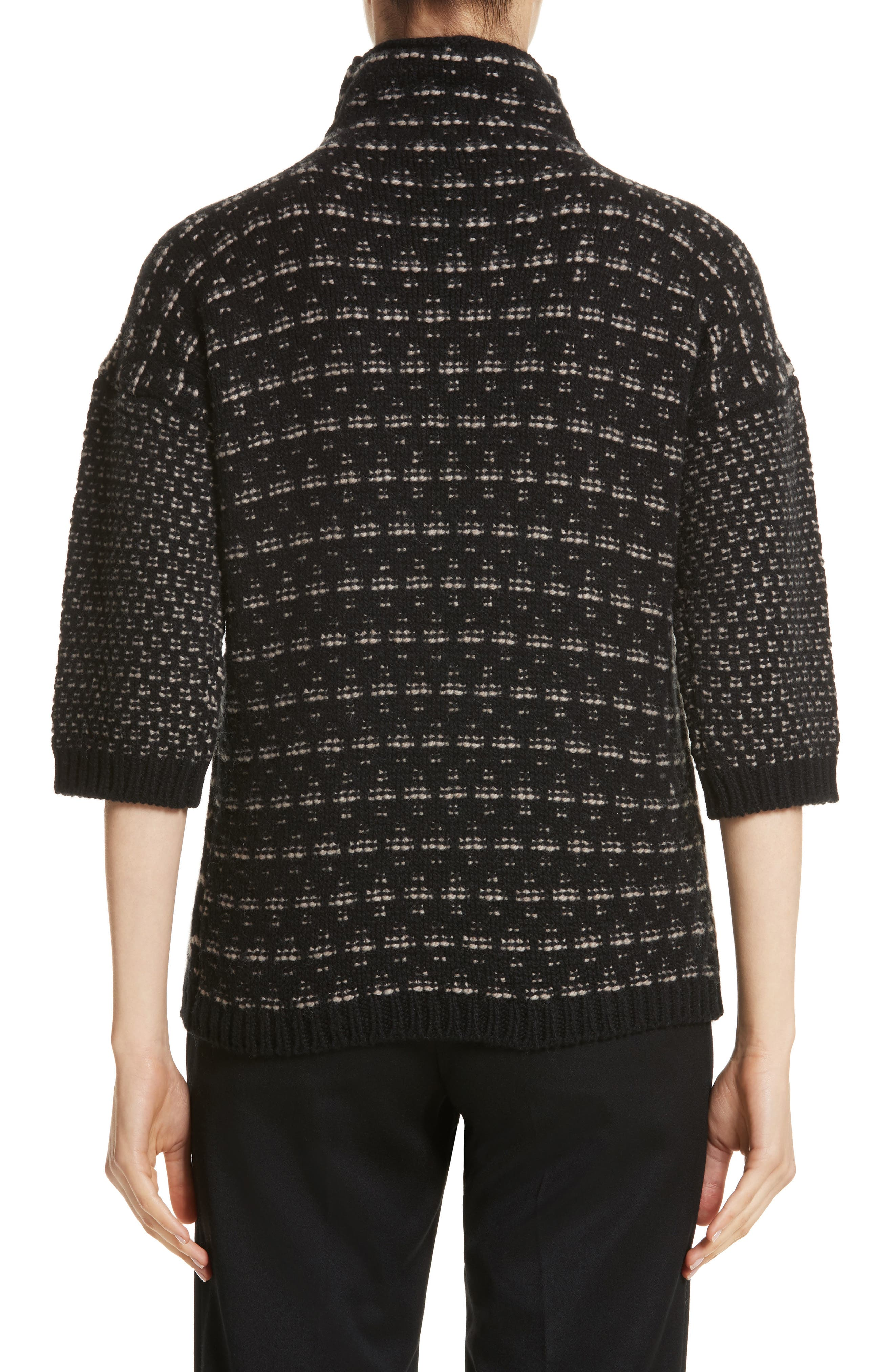 Rana Wool & Cashmere Sweater,                             Alternate thumbnail 2, color,                             Black