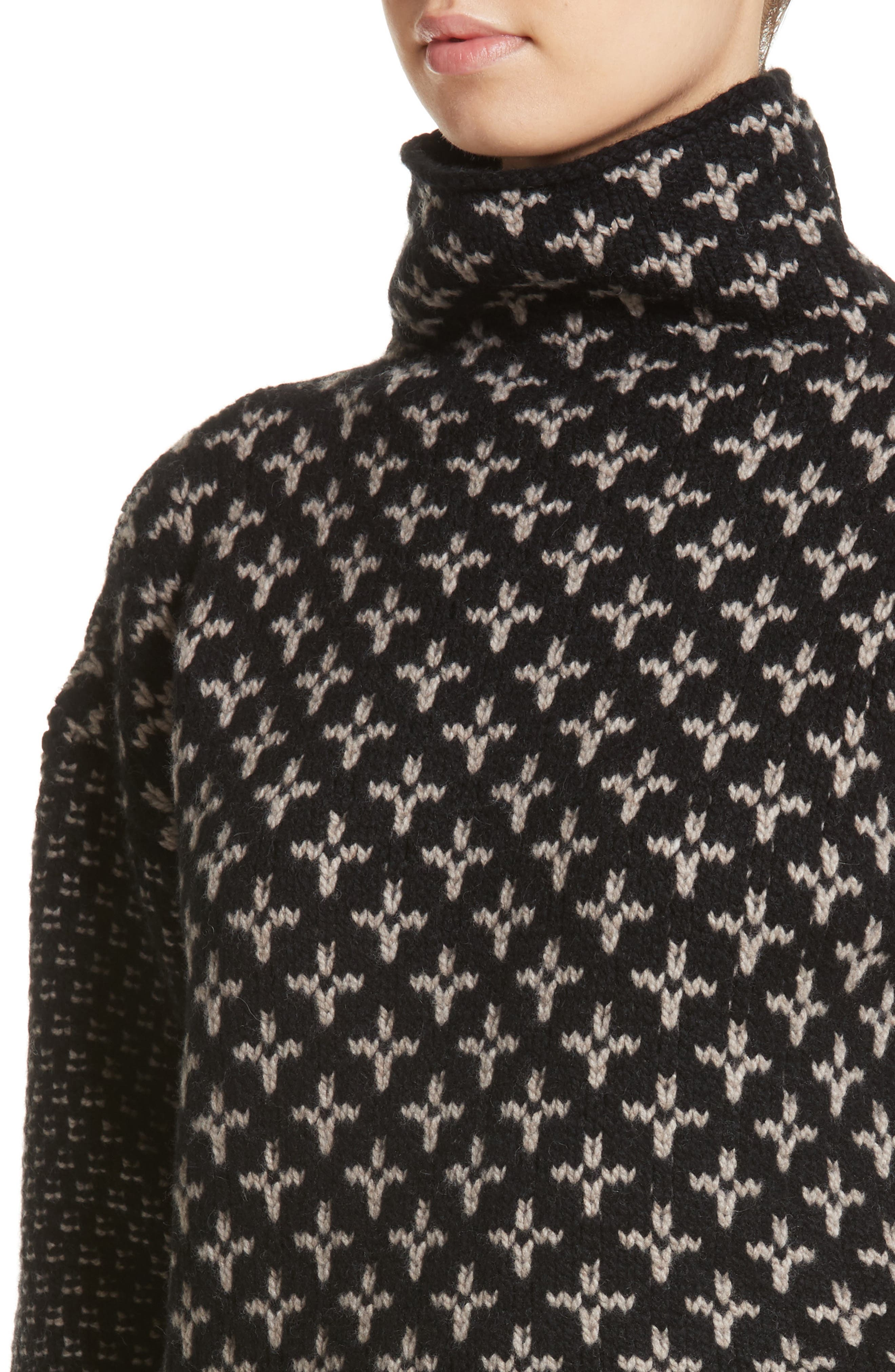 Rana Wool & Cashmere Sweater,                             Alternate thumbnail 4, color,                             Black