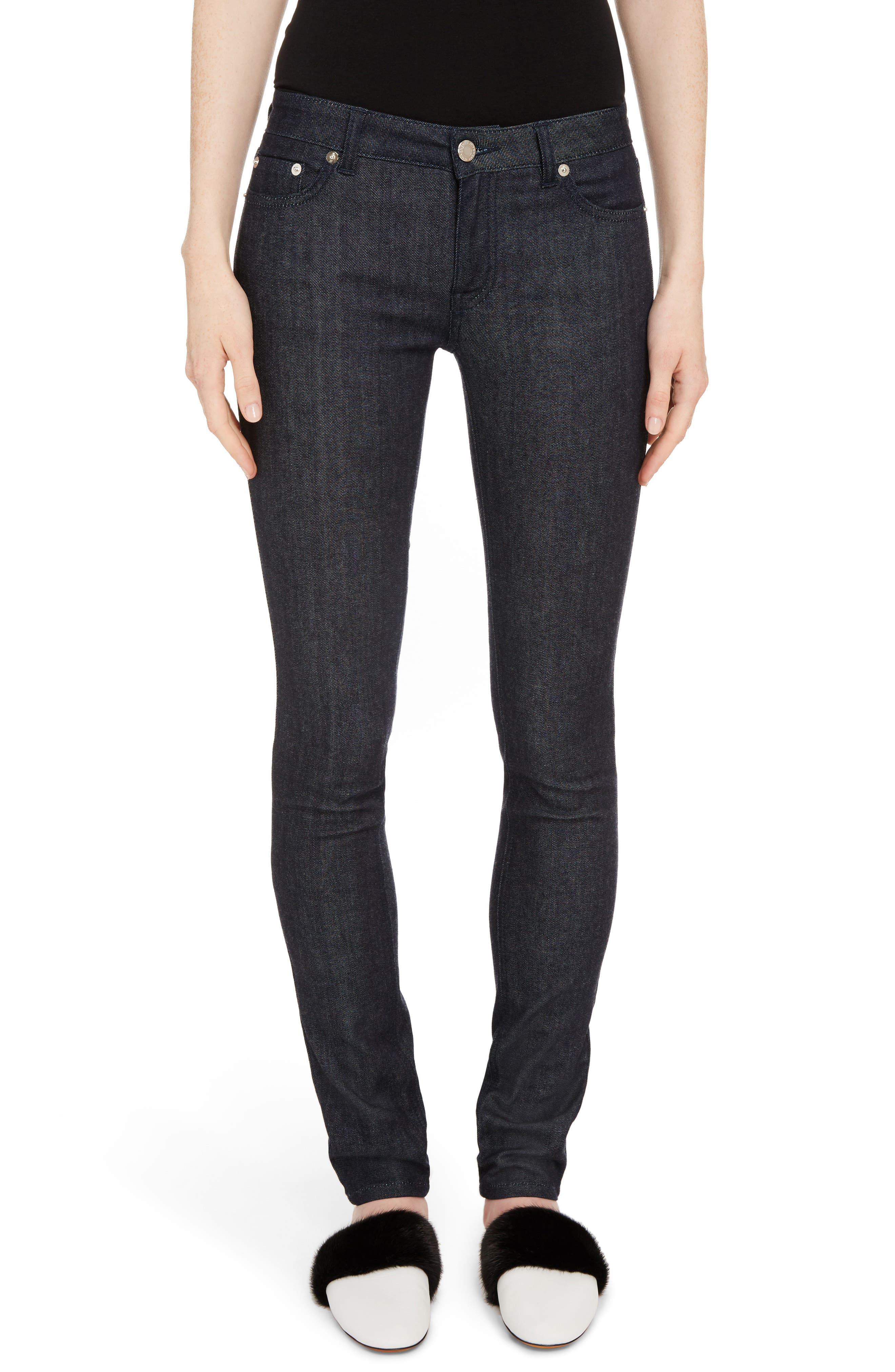 Alternate Image 1 Selected - Givenchy Tab Logo Skinny Jeans