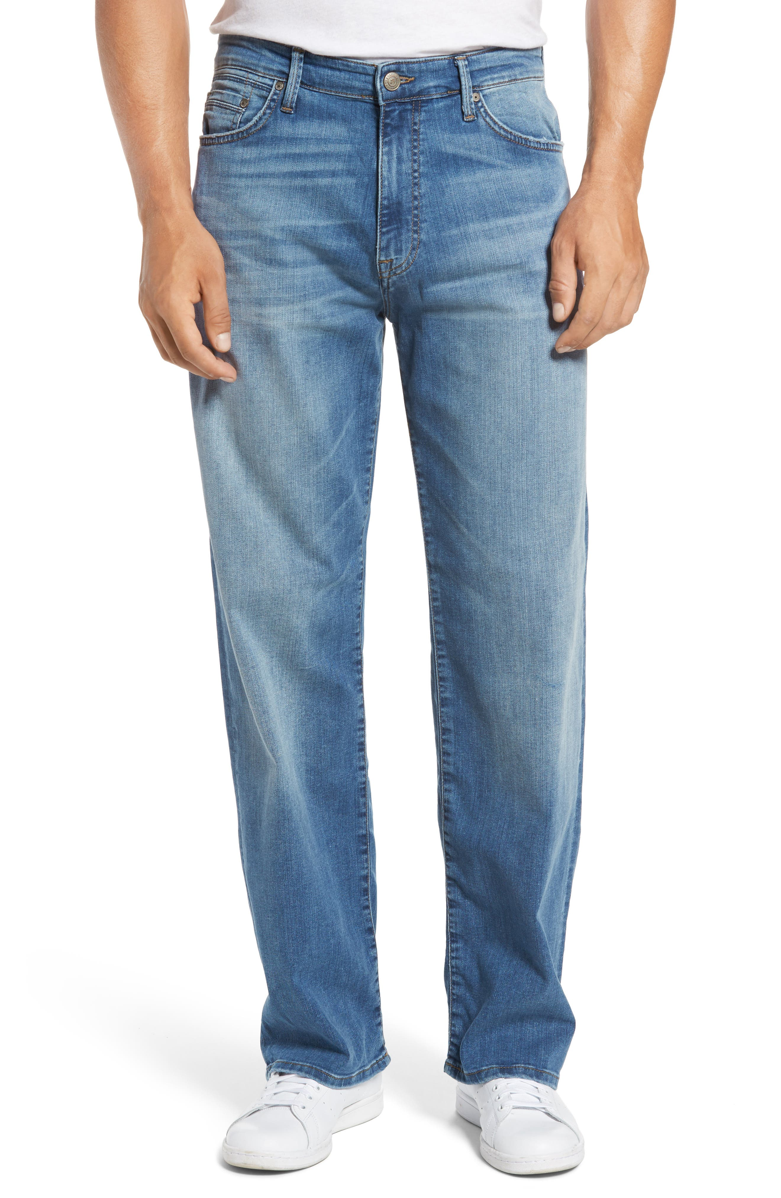 Max Relaxed Fit Jeans,                         Main,                         color, Mid Indigo Williamsburg