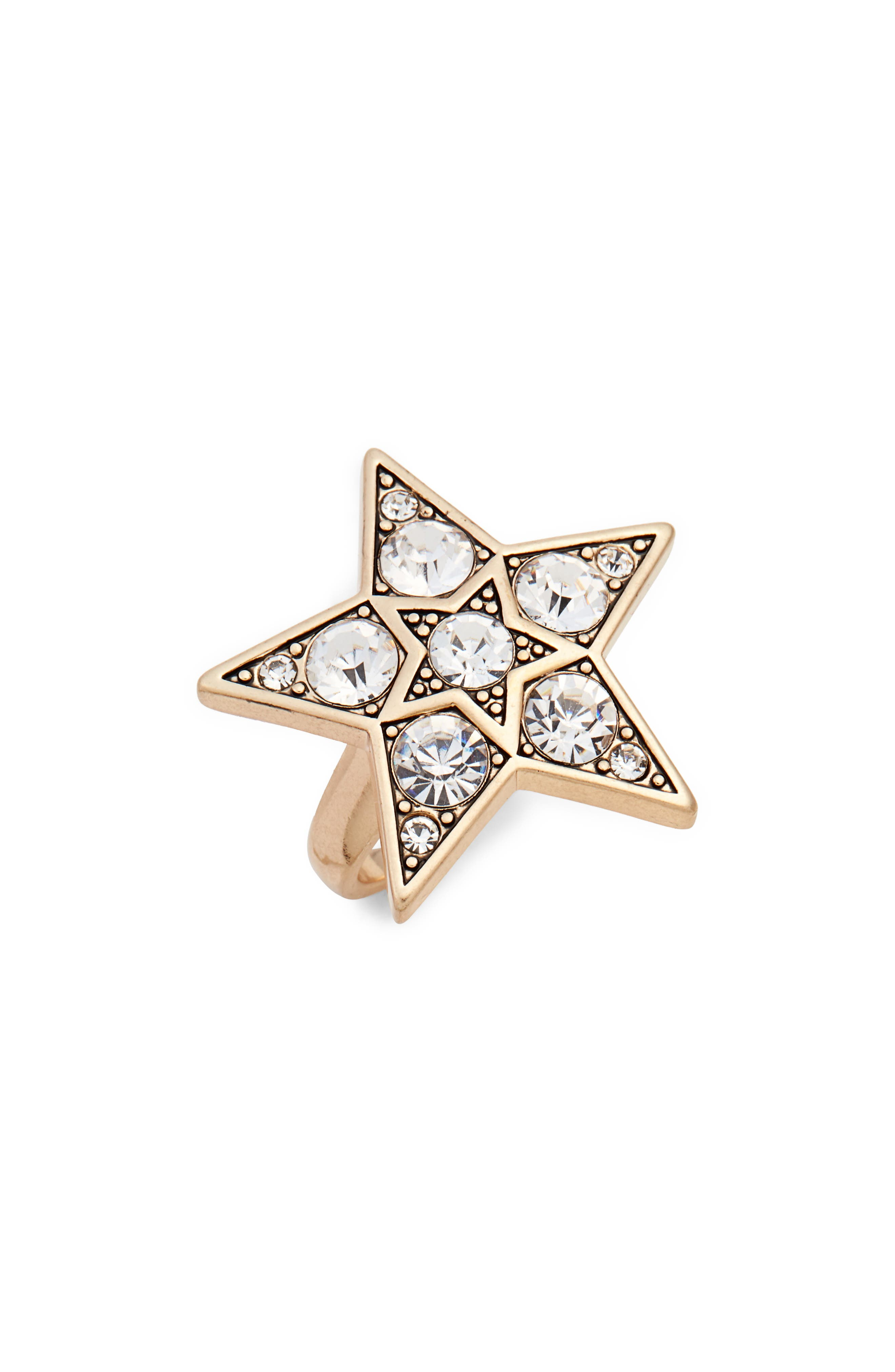 Star Ring,                         Main,                         color, Gold/ Crystal