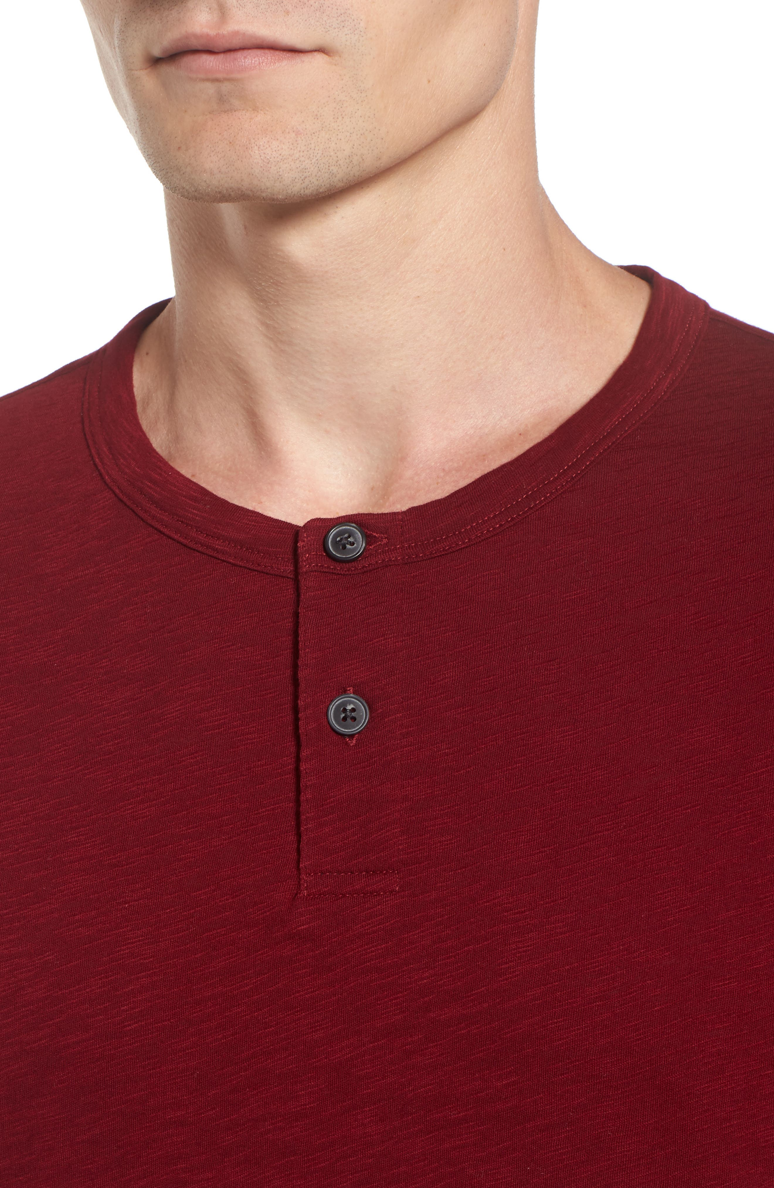 Gaskell Henley T-Shirt,                             Alternate thumbnail 4, color,                             Radish