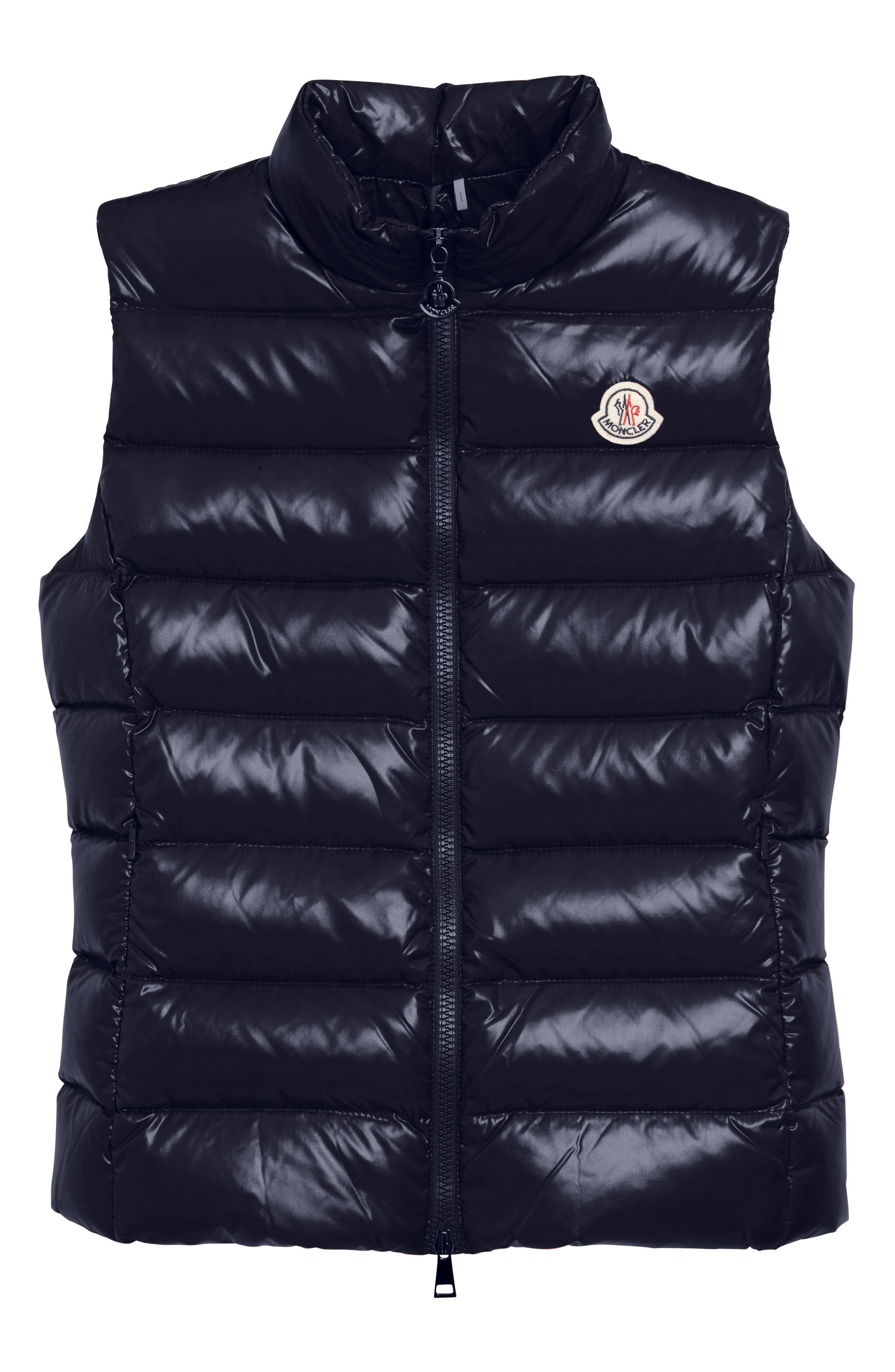 Ghany Water Resistant Shiny Nylon Down Puffer Vest,                             Alternate thumbnail 6, color,                             Navy