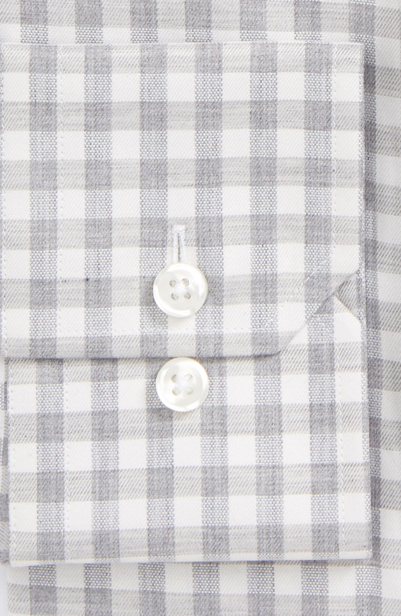 Alternate Image 2  - Strong Suit Extra Trim Fit Check Dress Shirt