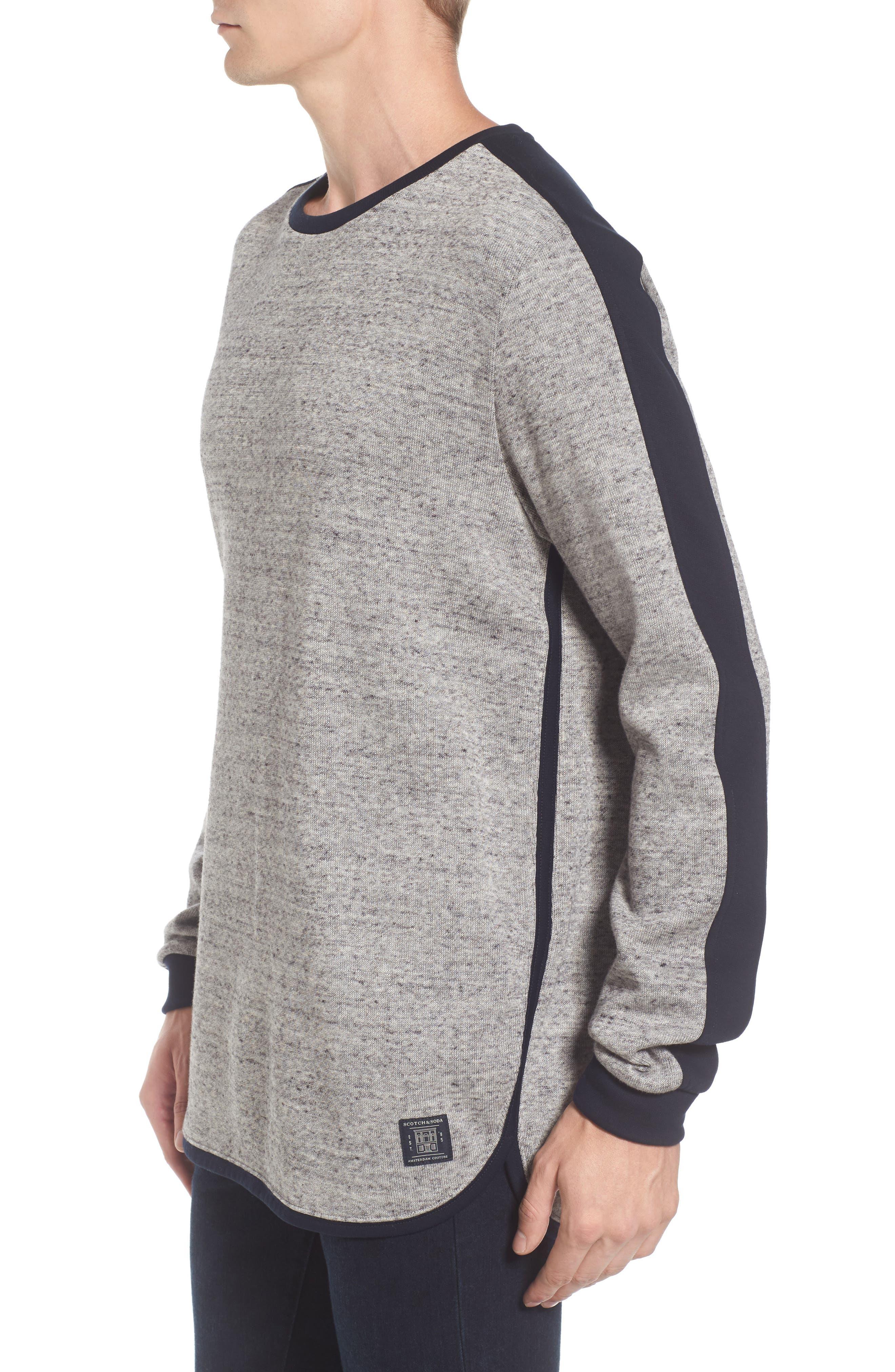 Panel Sweatshirt,                             Alternate thumbnail 3, color,                             Grey
