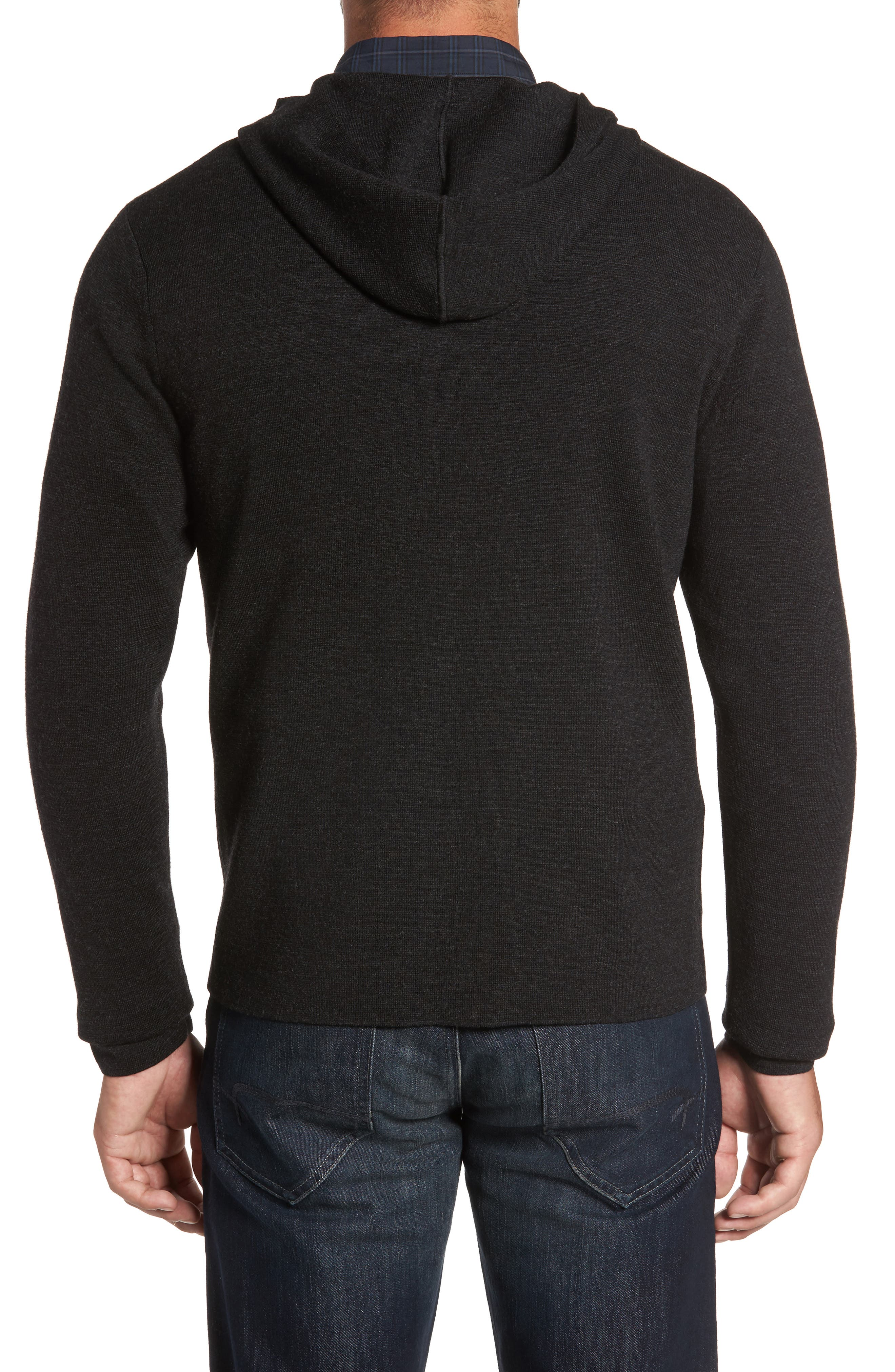 Carmichael Full Zip Merino Wool Hoodie,                             Alternate thumbnail 2, color,                             Titanium
