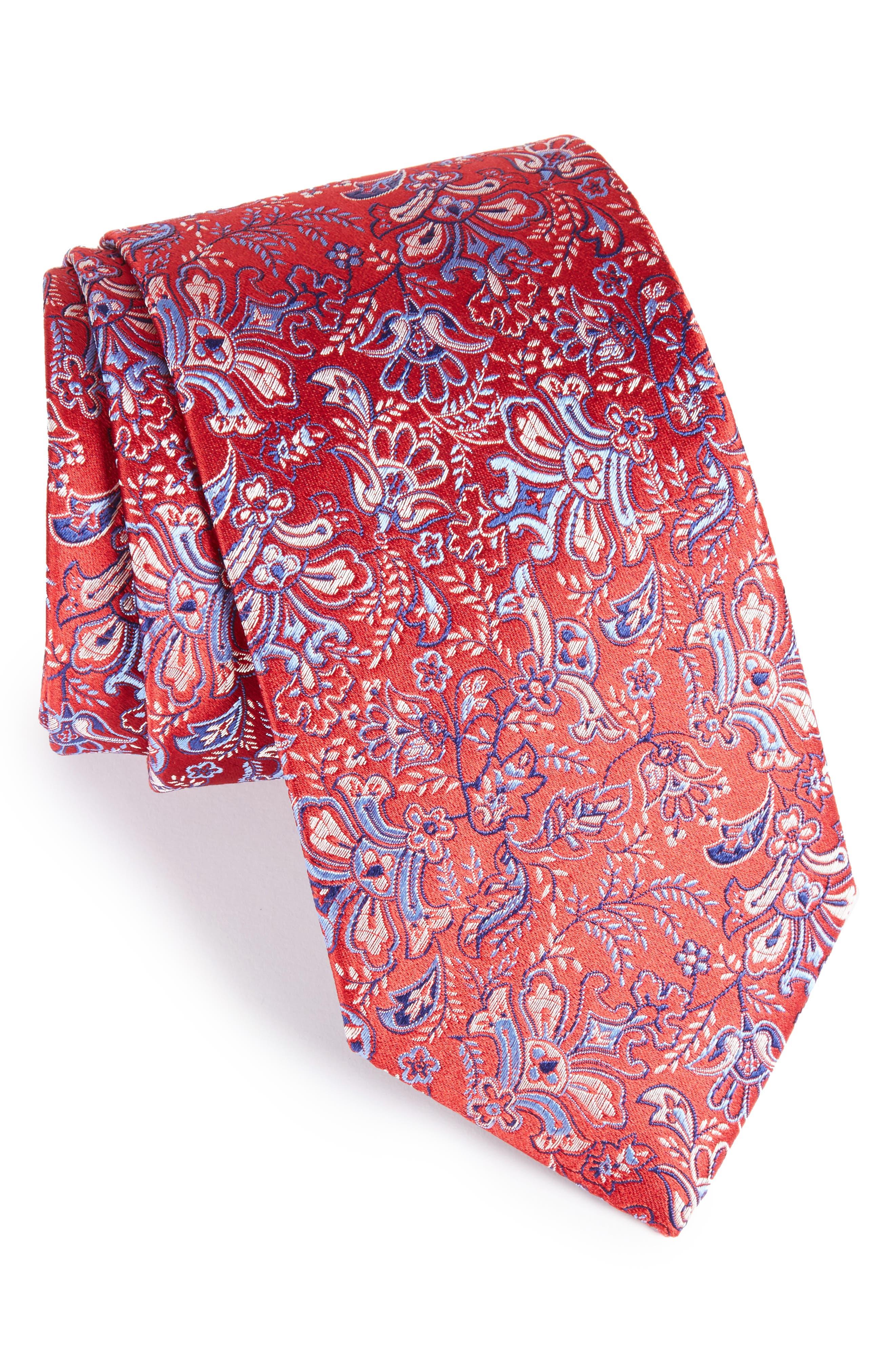 Eton Floral Print Silk Tie