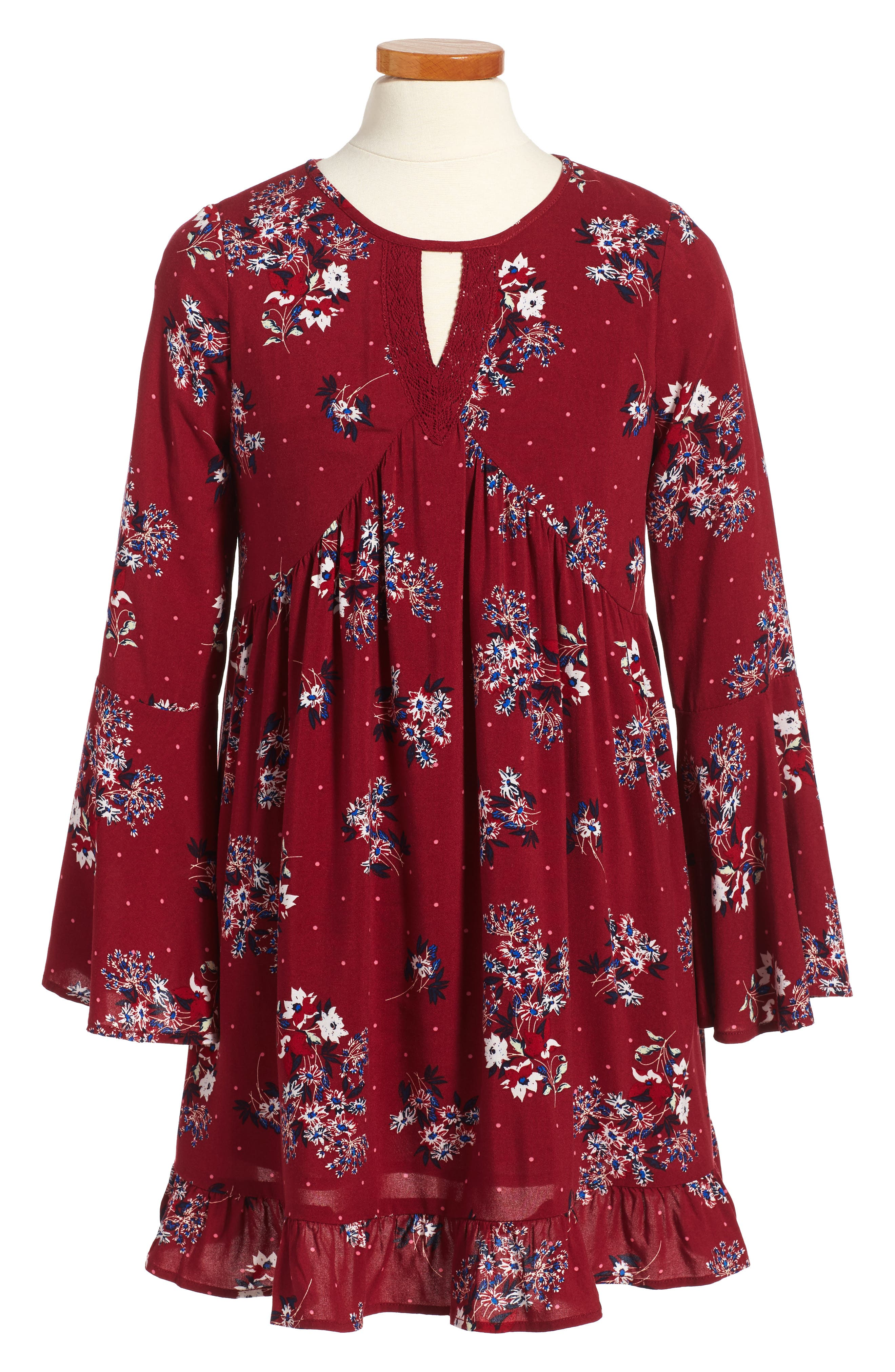 Tucker + Tate Floral Print Boho Dress (Big Girls)