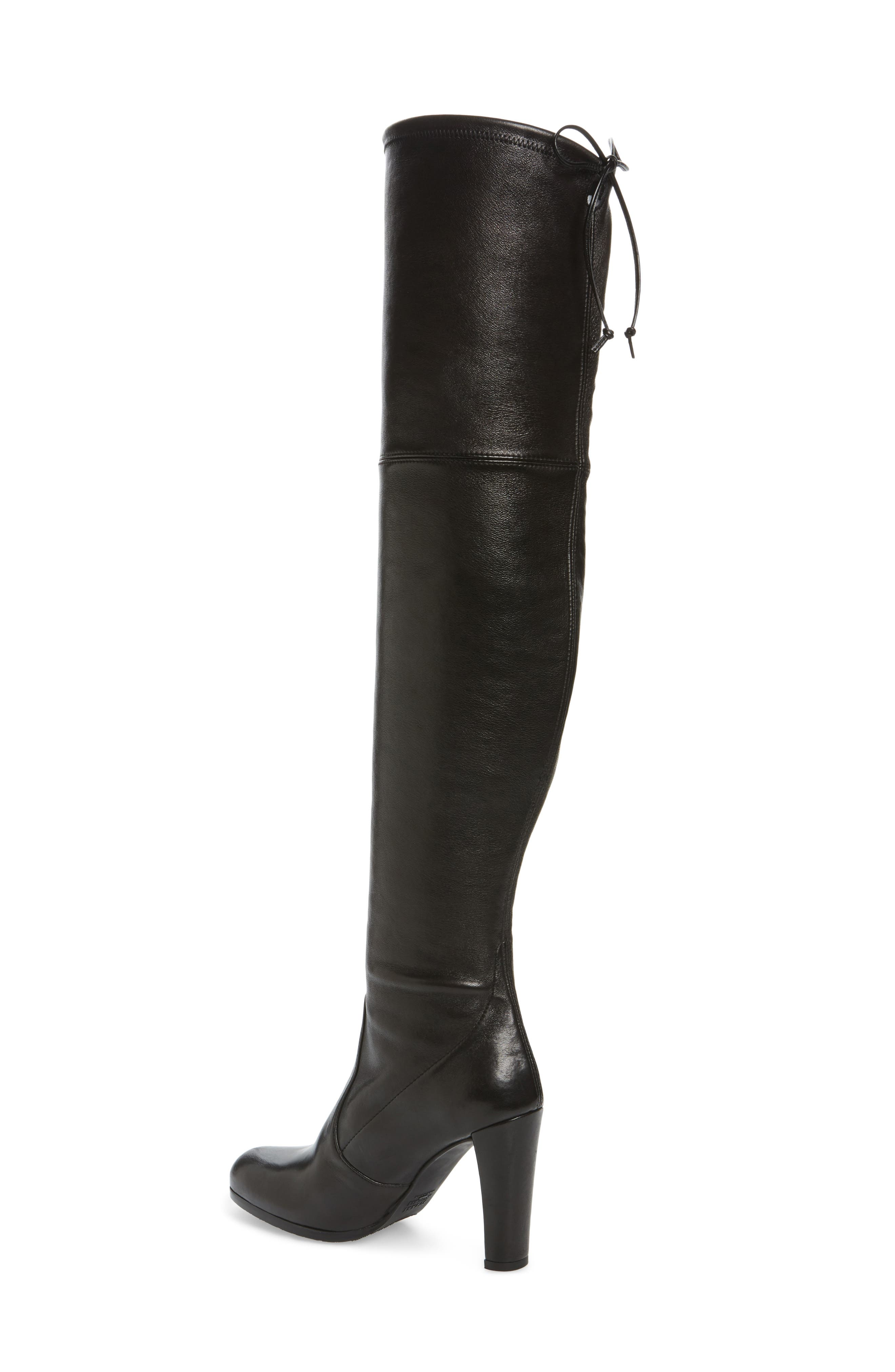 Hiline Over the Knee Boot,                             Alternate thumbnail 2, color,                             Black Nappa