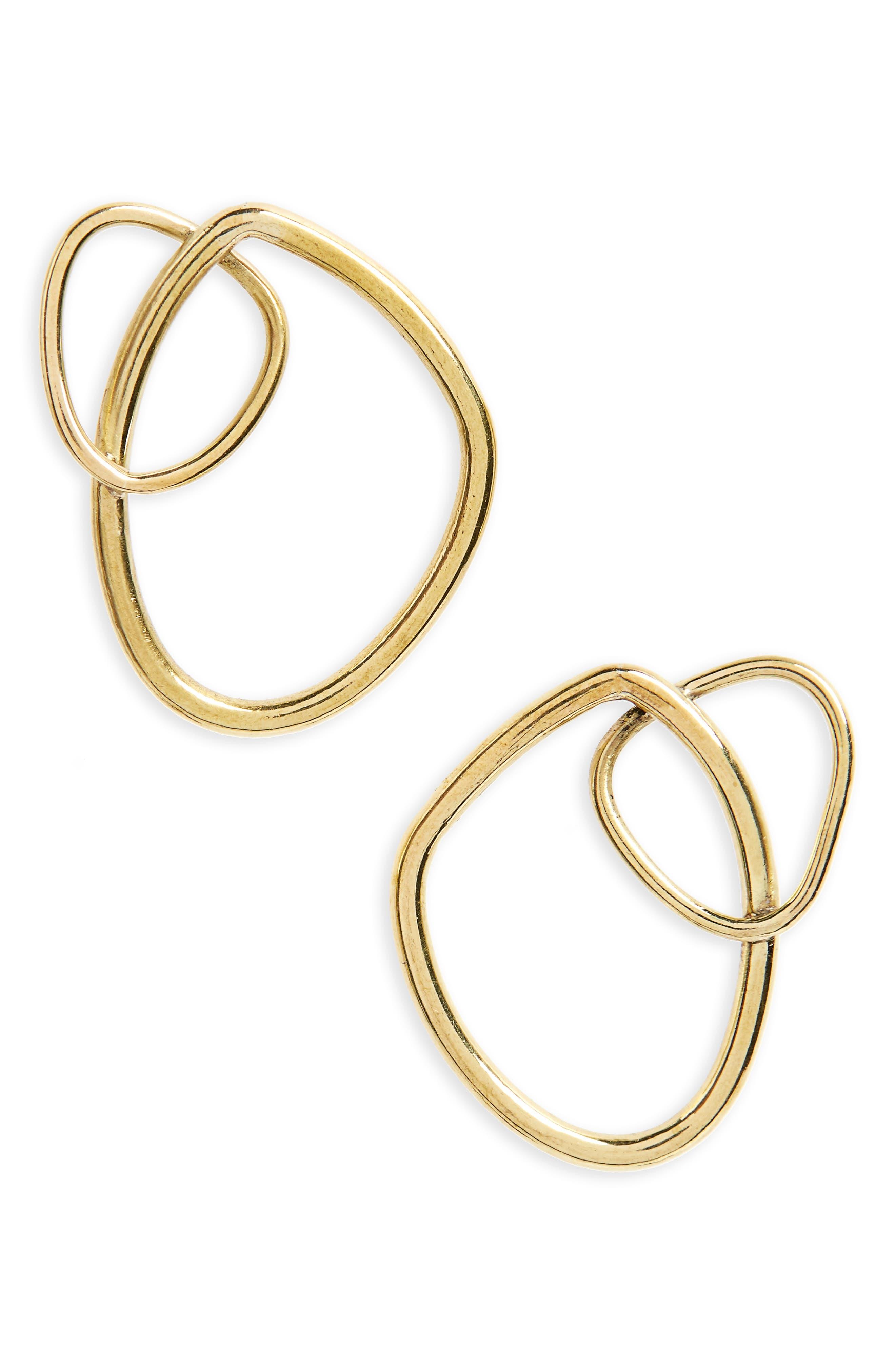 Climbing Sabi Stud Earrings,                         Main,                         color, Brass