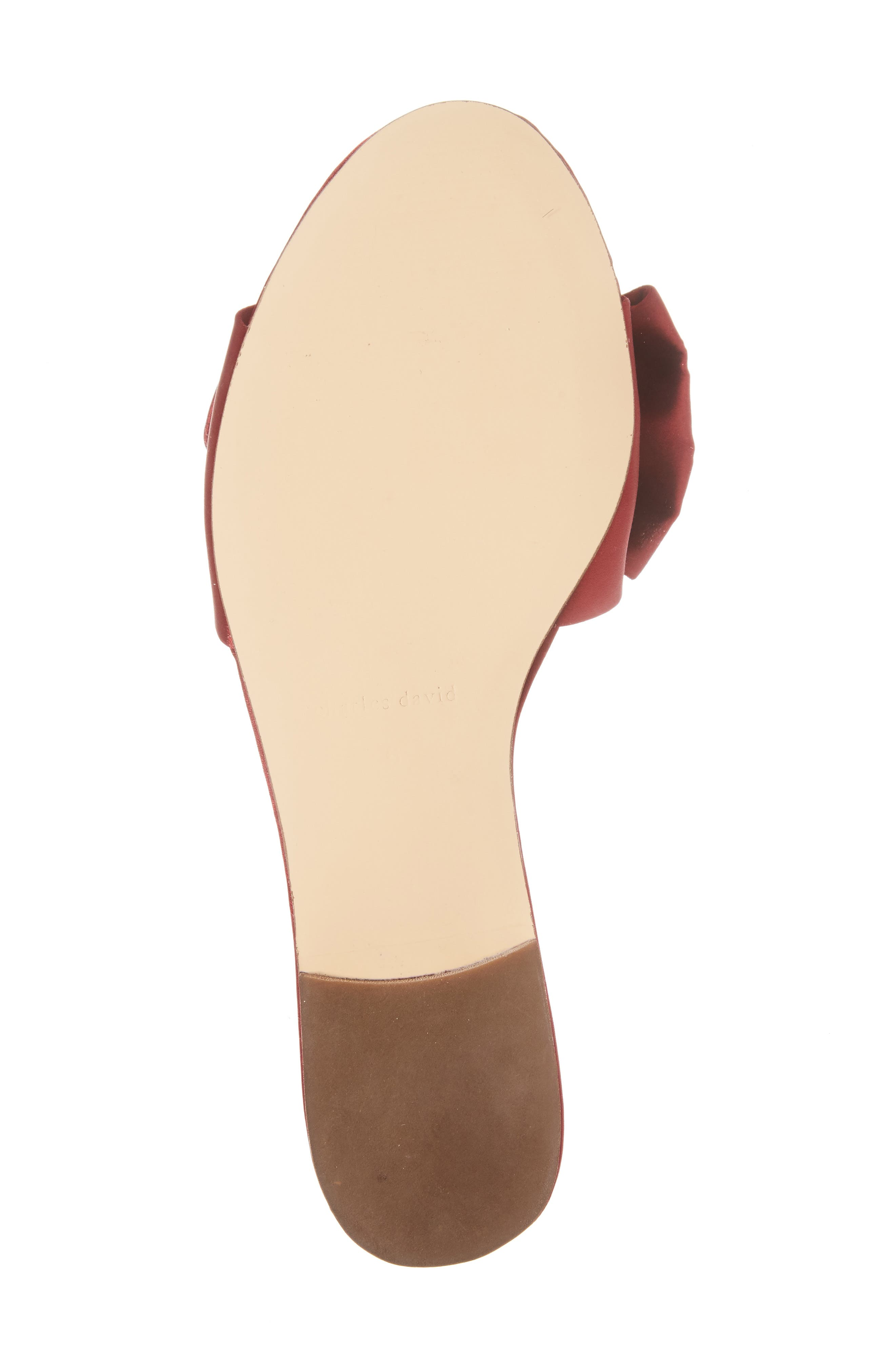 Bow Slide Sandal,                             Alternate thumbnail 6, color,                             Burgundy Satin
