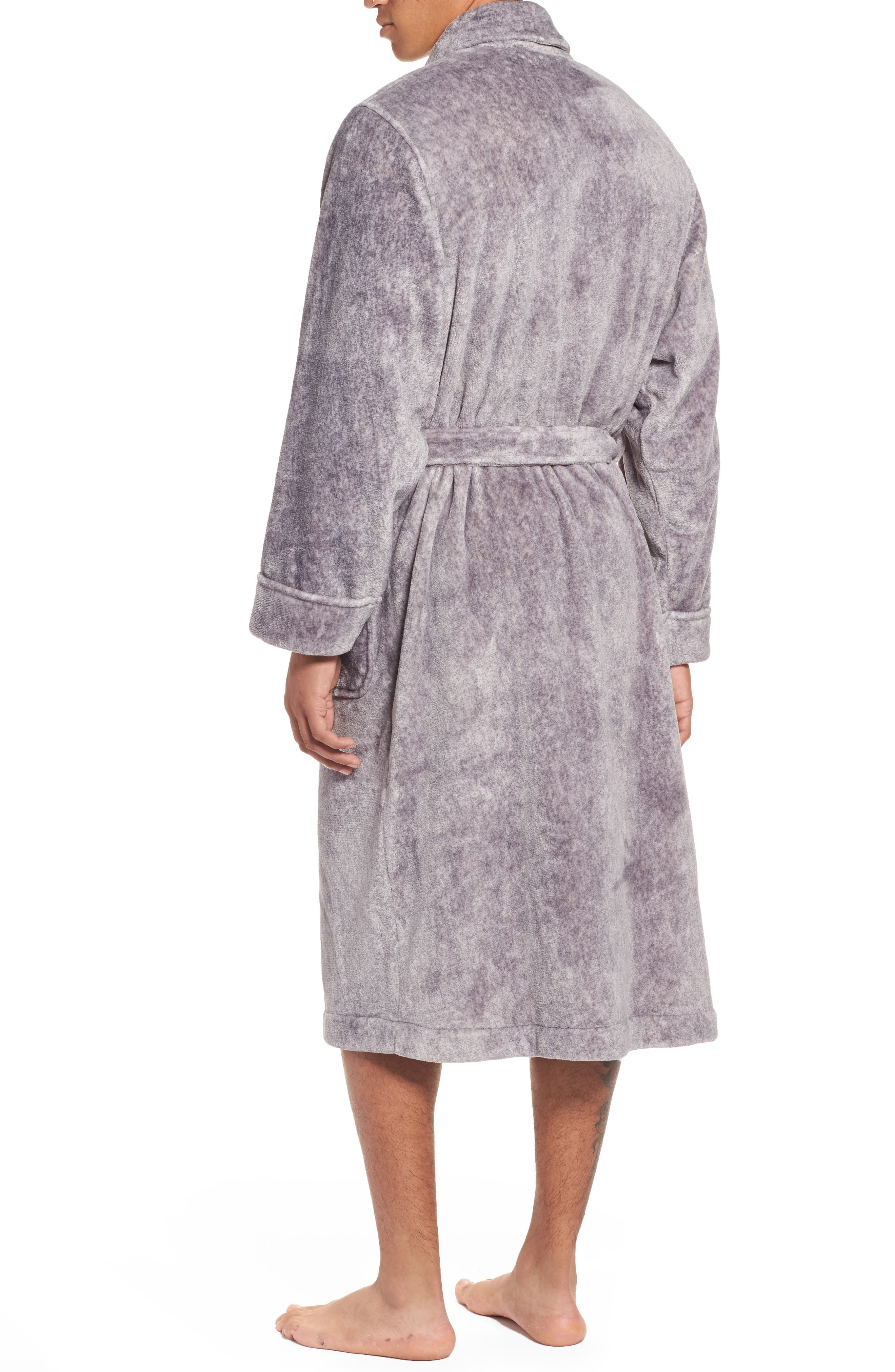 Alternate Image 2  - Nordstrom Men's Shop Heathered Fleece Robe