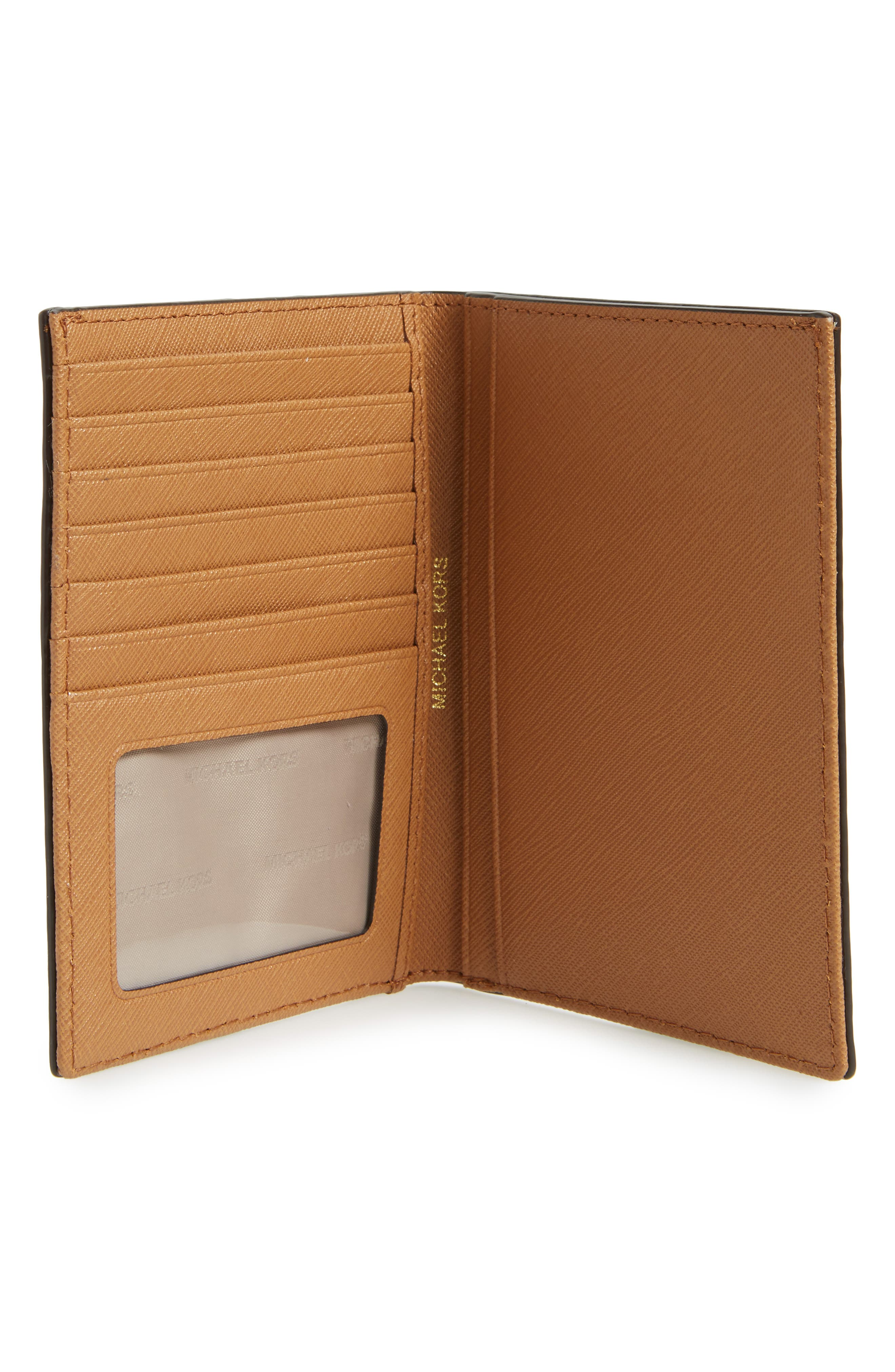 Alternate Image 2  - MICHAEL Michael Kors 'Jet Set' Leather Passport Wallet