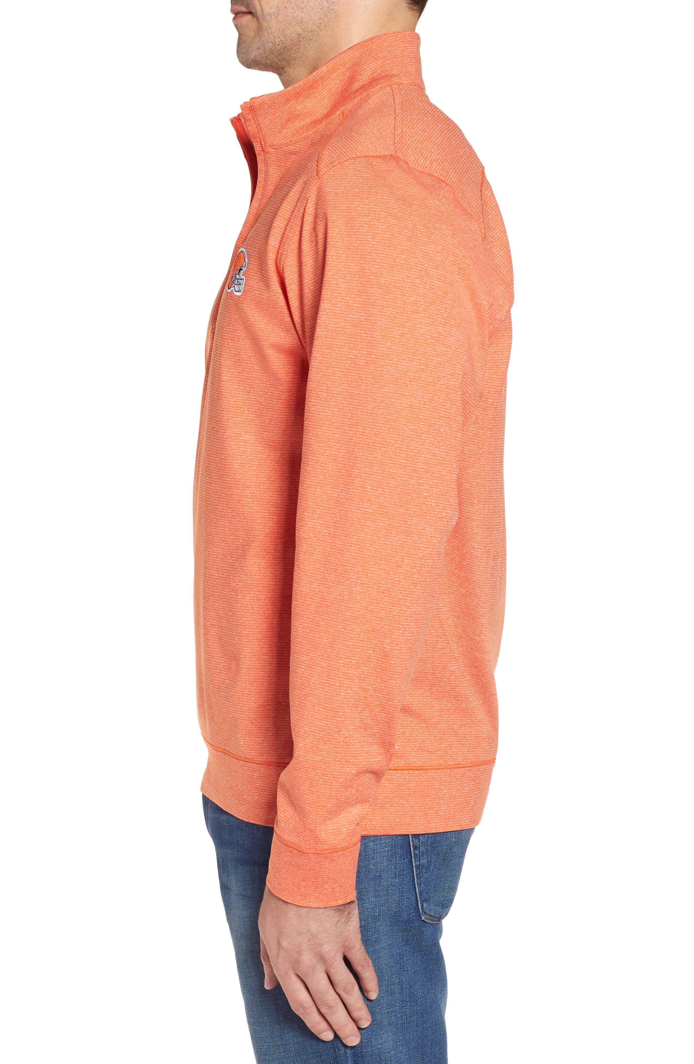 Shoreline - Cleveland Browns Half Zip Pullover,                             Alternate thumbnail 2, color,                             College Orange Heather