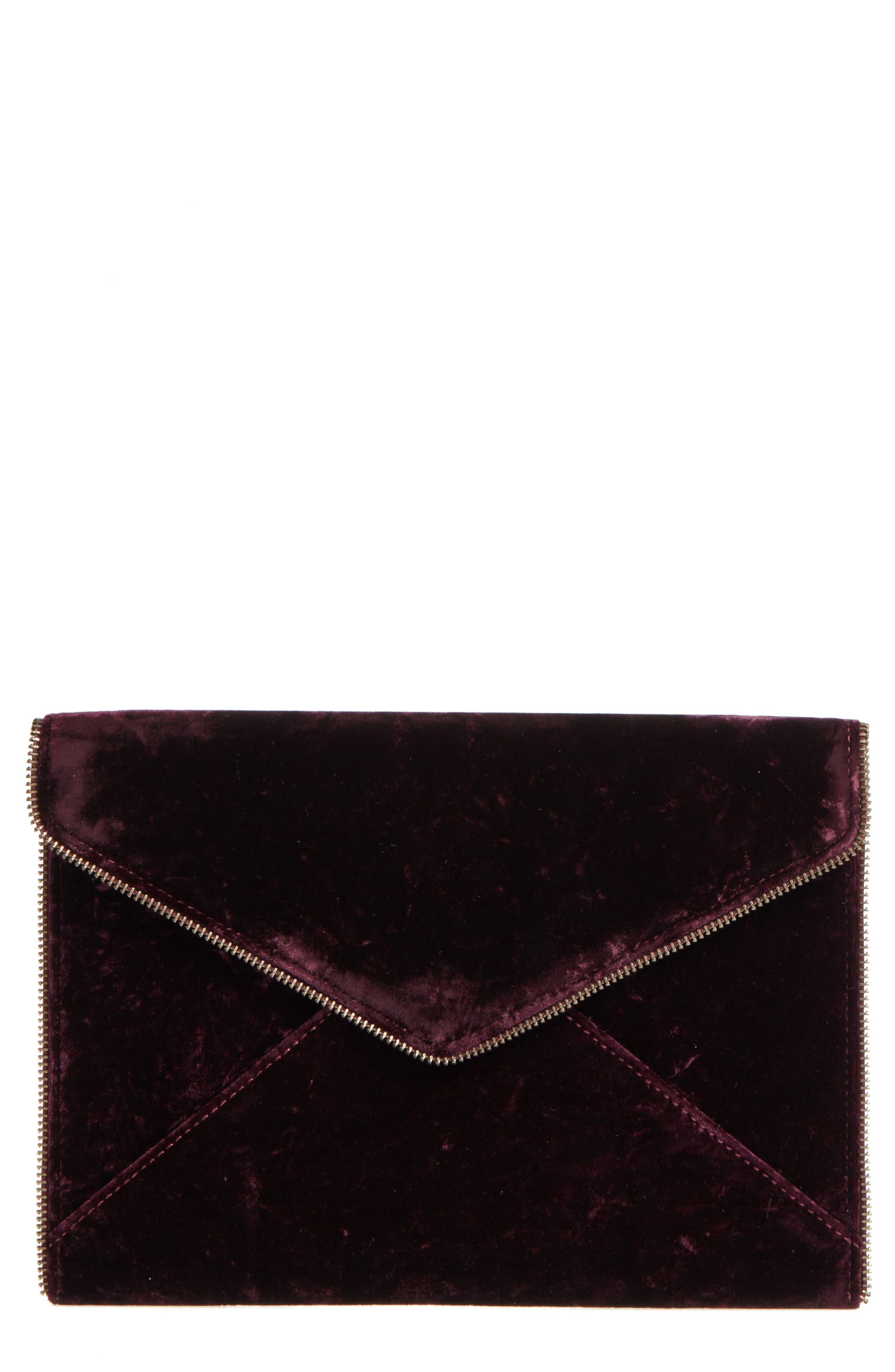 Rebecca Minkoff Leo Velvet Envelope Clutch