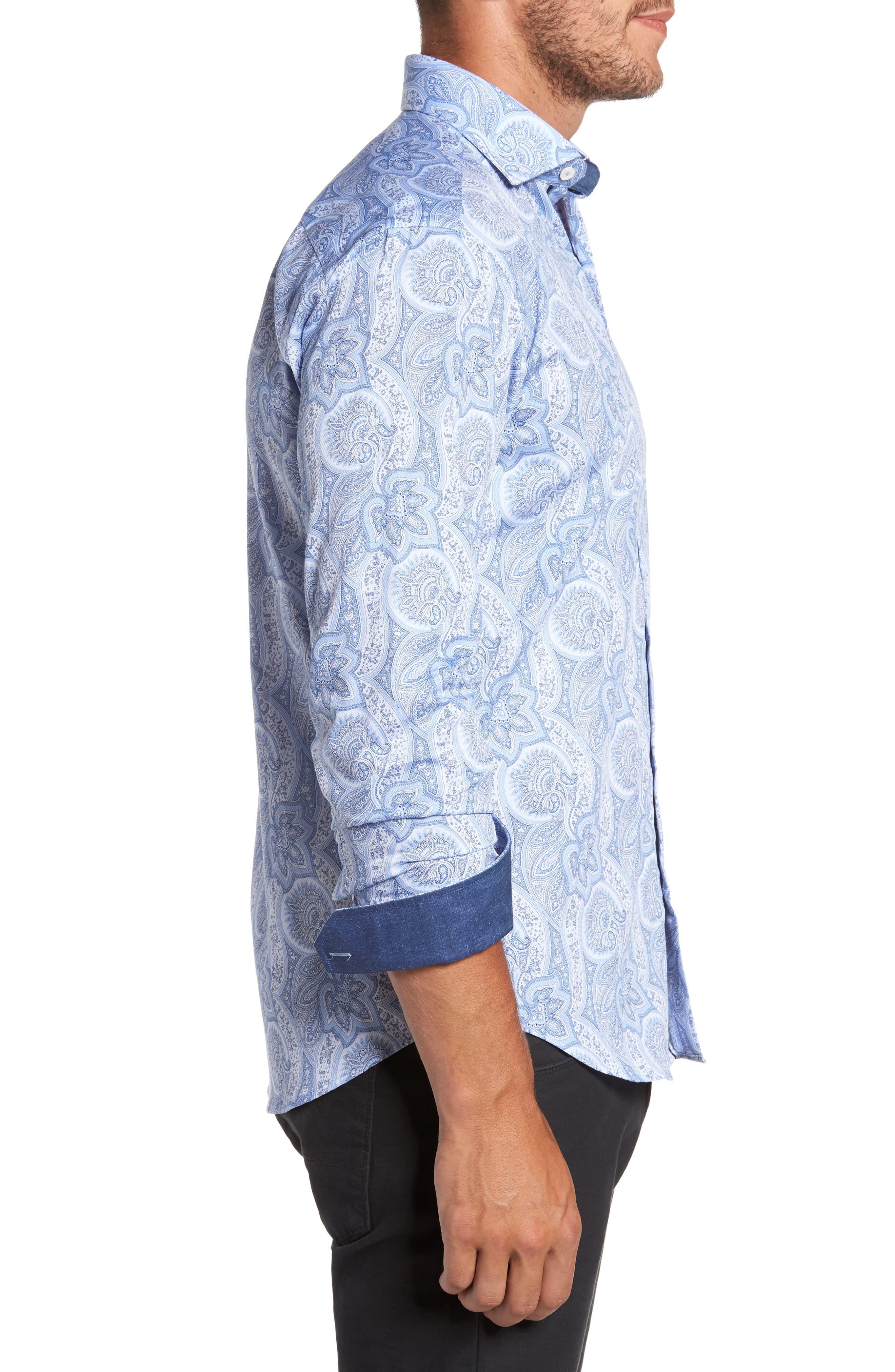 Alternate Image 3  - Bugtachi Shaped Fit Print Sport Shirt