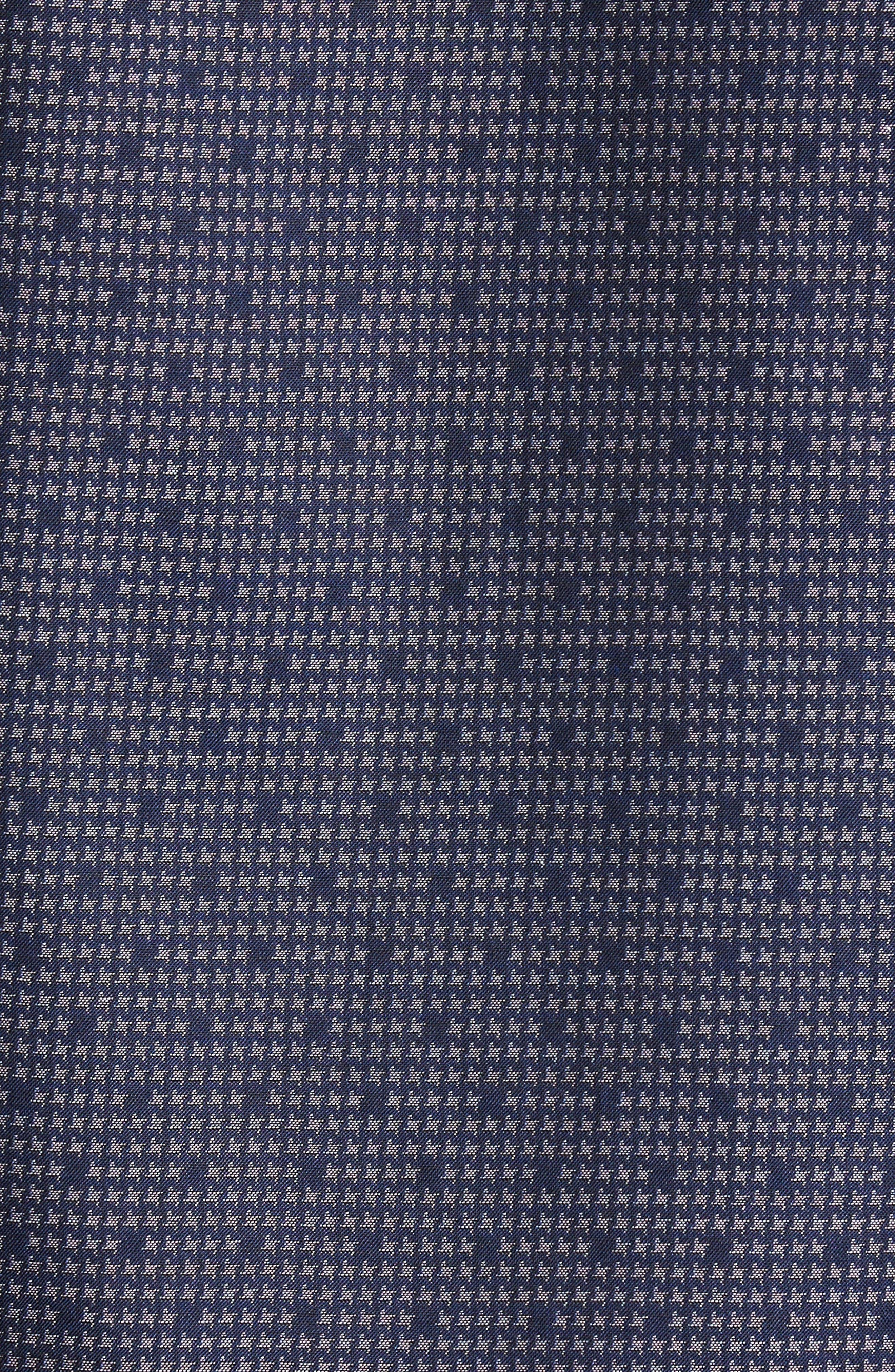 Alternate Image 5  - Bugatchi Trim Fit Dot Houndstooth Sport Shirt