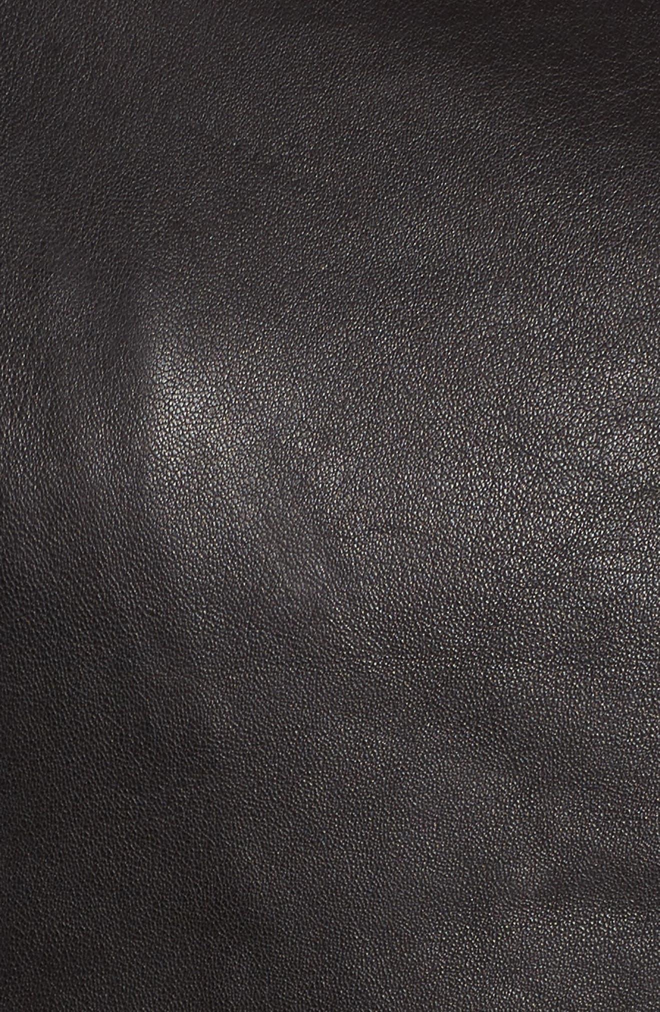 Alternate Image 5  - BB Dakota Harwick Leather Moto Jacket