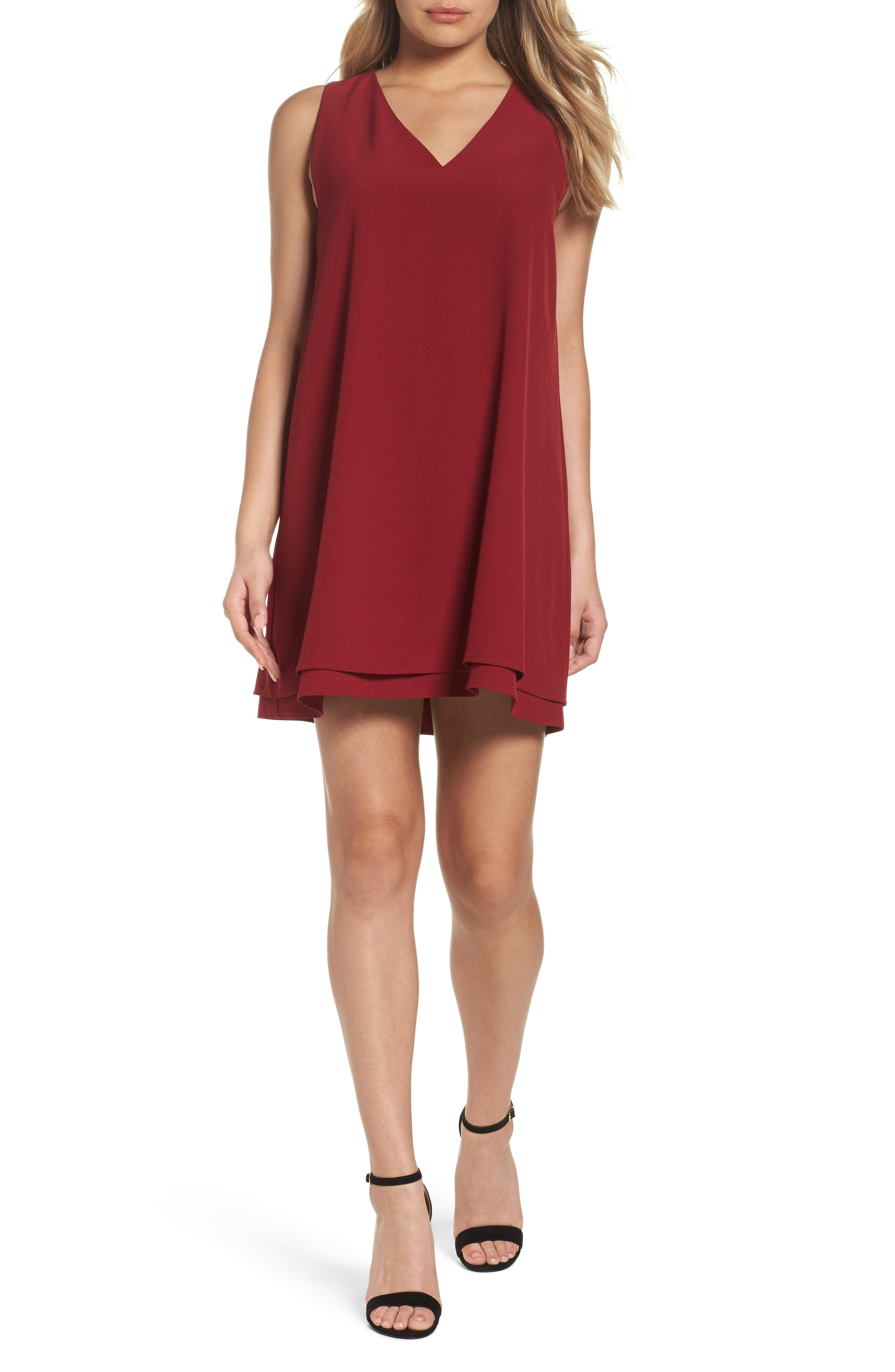 Main Image - BB Dakota 'Palma' Crepe Shift Dress