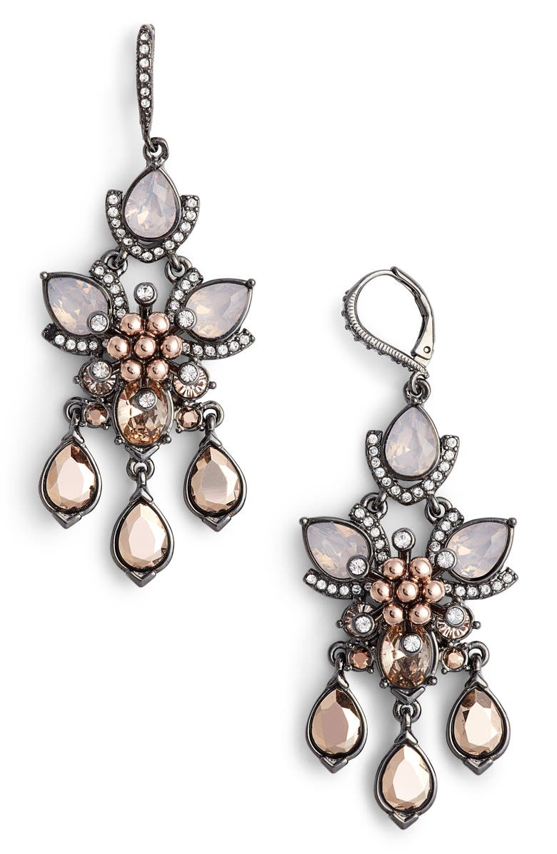 Chandelier Earrings Main Color Blush Crystal