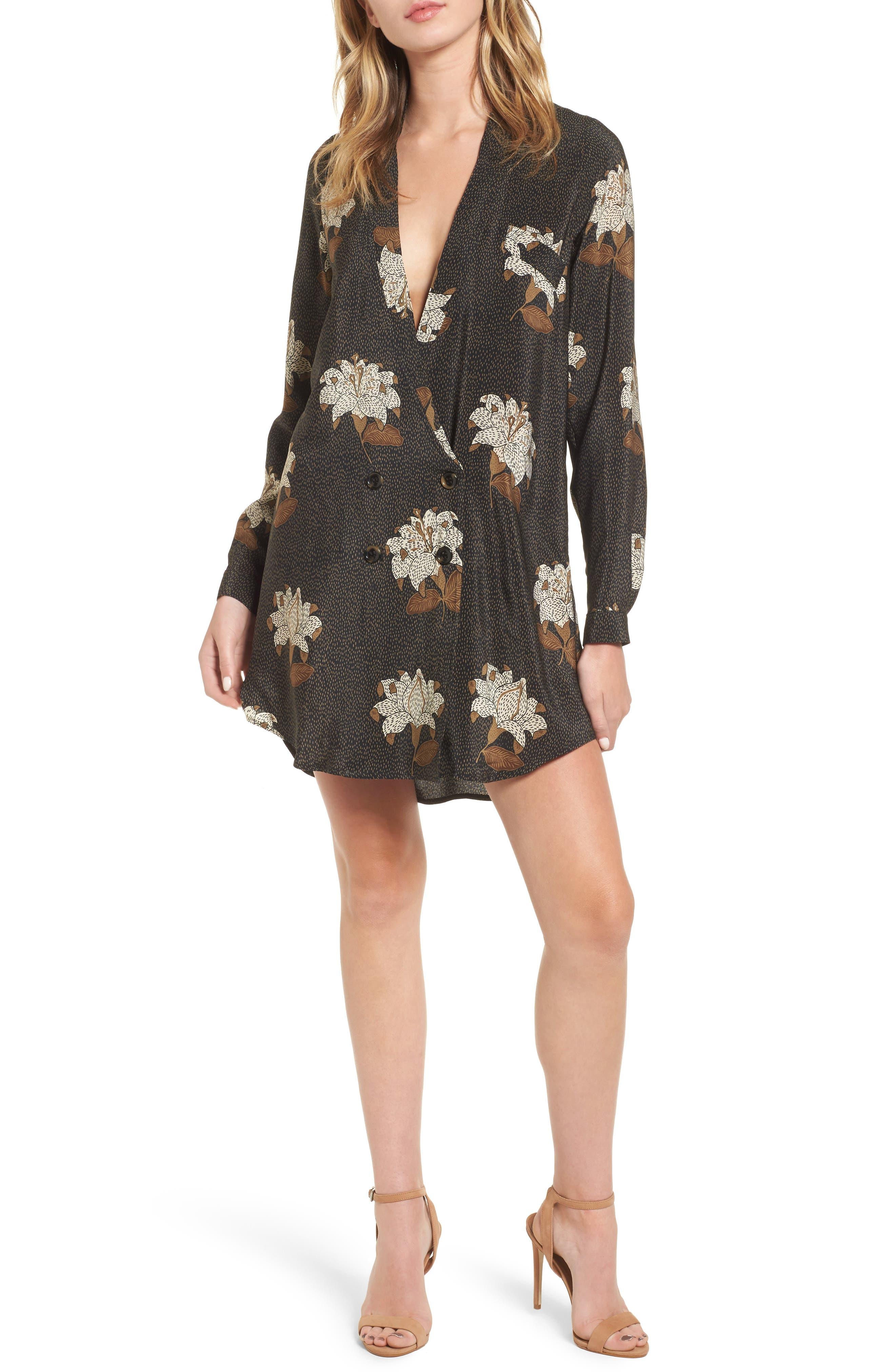 Rex Silk Jacket Dress,                             Main thumbnail 1, color,                             Dries