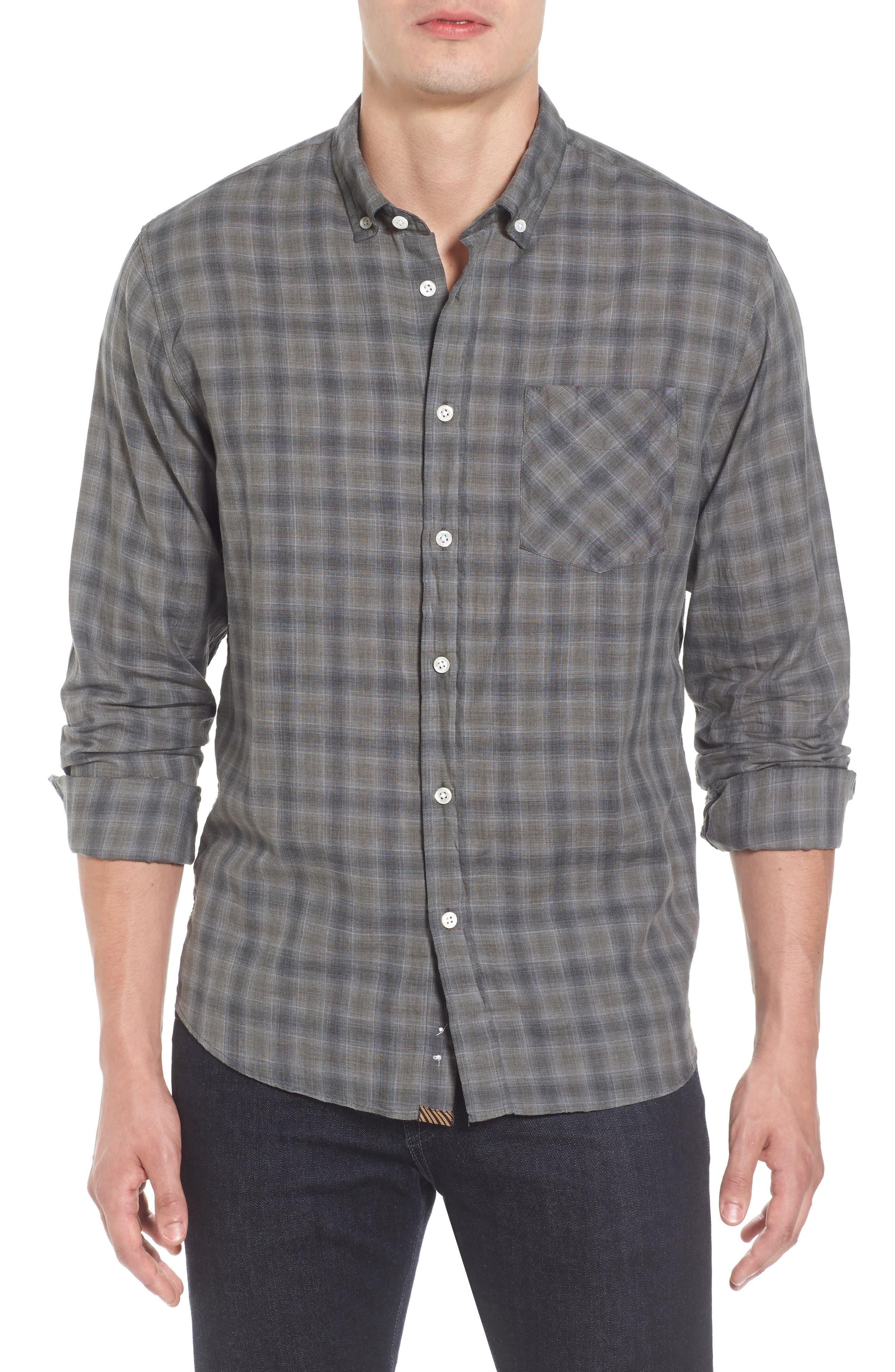 Billy Reid Wallace Standard Fit Check Sport Shirt