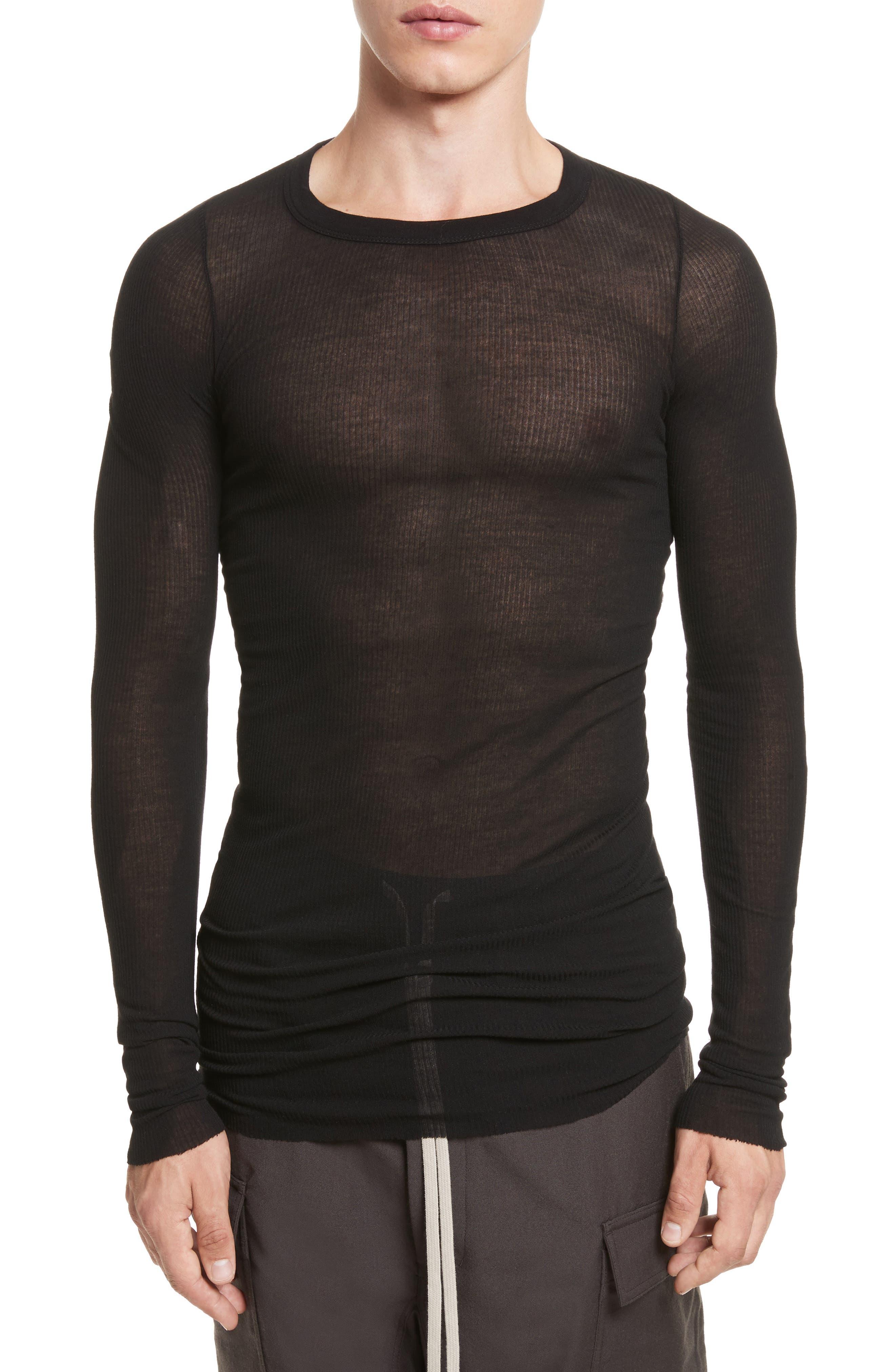 Main Image - Rick Owens Ribbed T-Shirt
