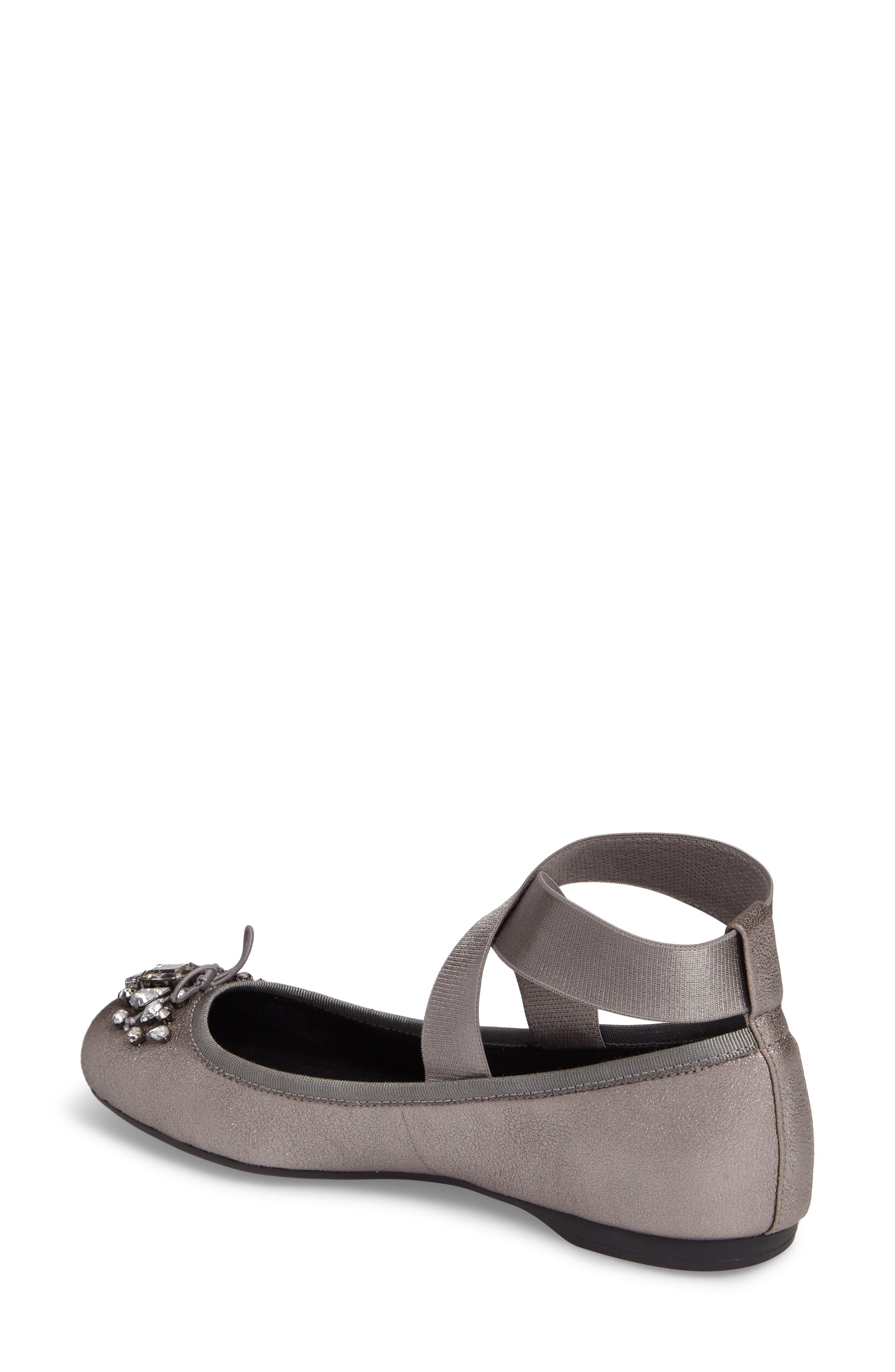 Alternate Image 2  - Jessica Simpson Miaha Embellished Blunt Toe Flat (Women)