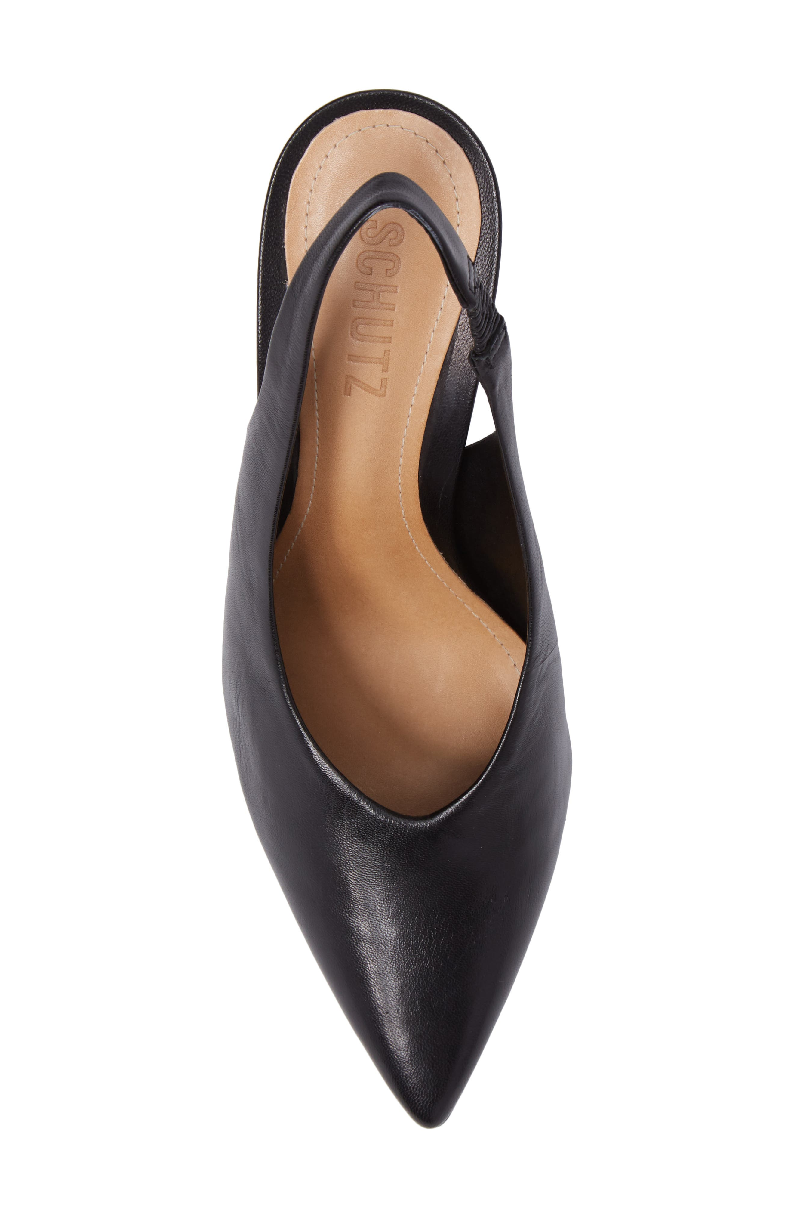 Phisalis Slingback Pump,                             Alternate thumbnail 5, color,                             Black Mestico Leather
