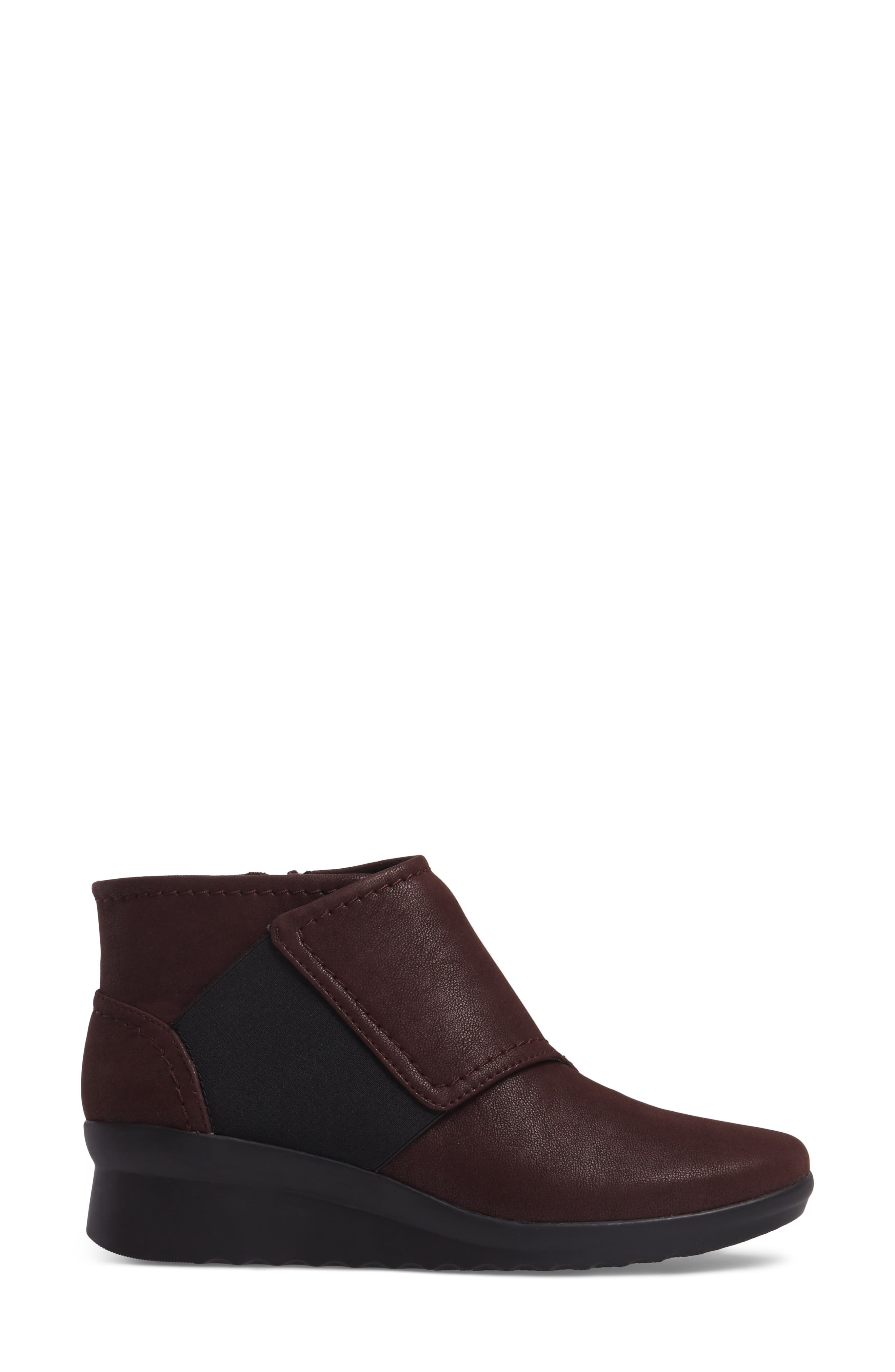 Caddell Rush Bootie,                             Alternate thumbnail 3, color,                             Burgundy Leather